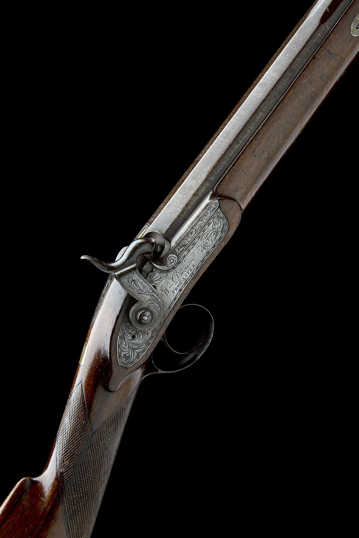 W. DAVISON, NEWCASTLE A 14-BORE PERCUSSION SINGLE-BARRELLED SPORTING-GUN, no visible serial