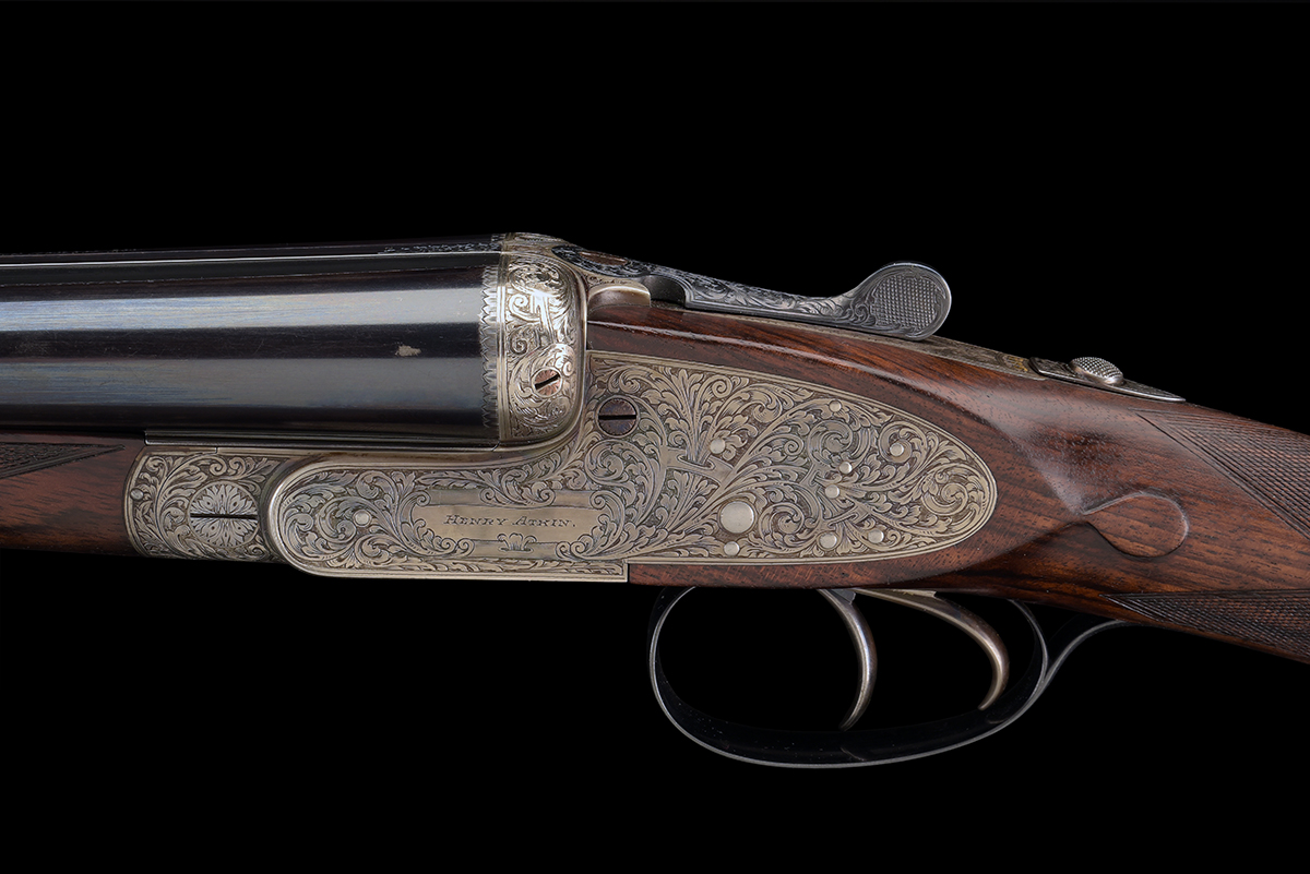 FORMERLY THE PROPERTY OF GOUGH THOMAS HENRY ATKIN A FINE, KELL-ENGRAVED 12-BORE SPRING-OPENING - Image 6 of 13