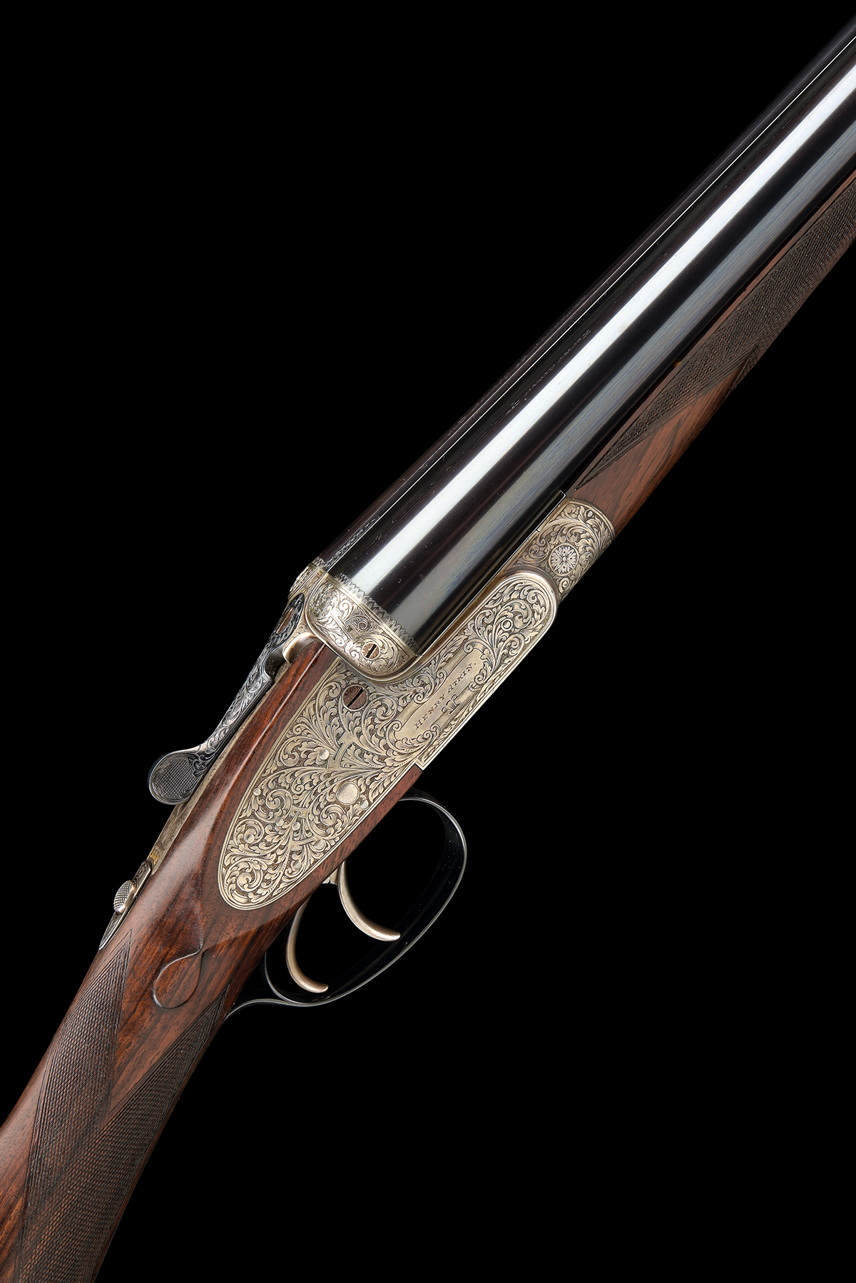 FORMERLY THE PROPERTY OF GOUGH THOMAS HENRY ATKIN A FINE, KELL-ENGRAVED 12-BORE SPRING-OPENING
