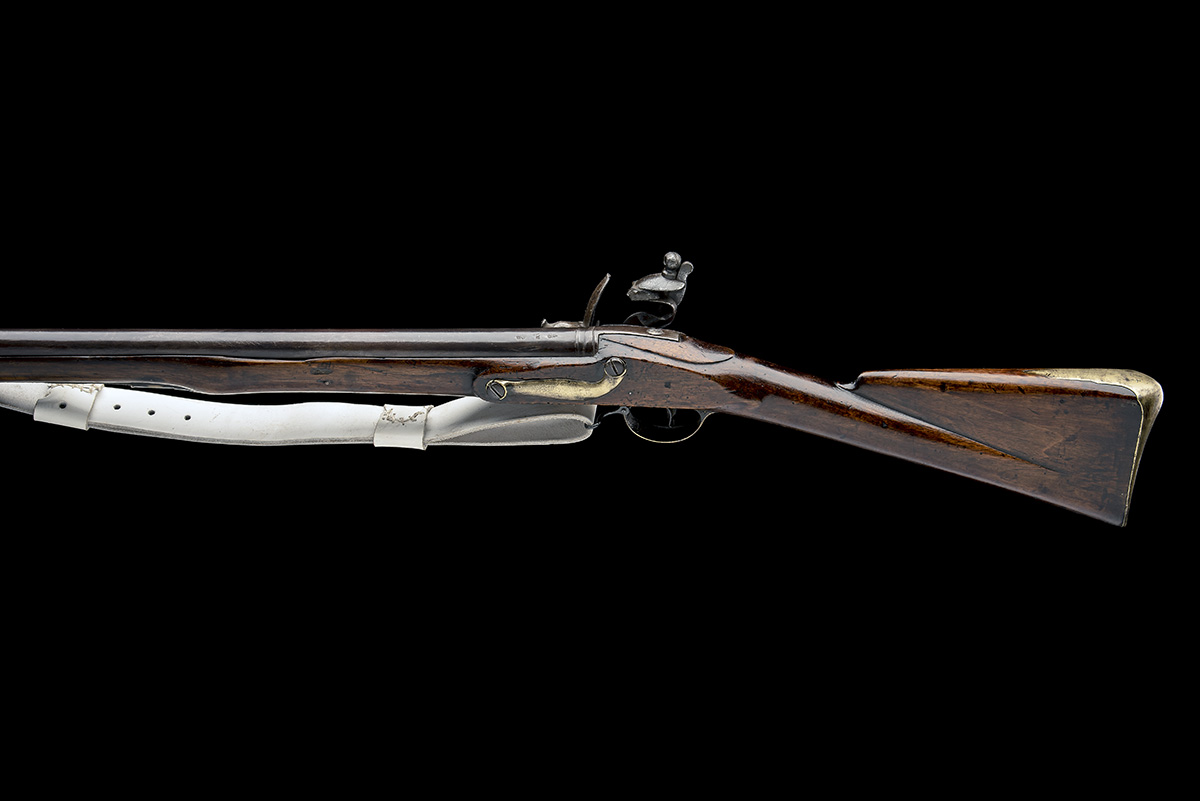 REED, LONDON A .750 FLINTLOCK MUSKET, MODEL 'INDIA PATTERN BROWN BESS', rack no. 47, WITH BAYONET, - Image 2 of 8