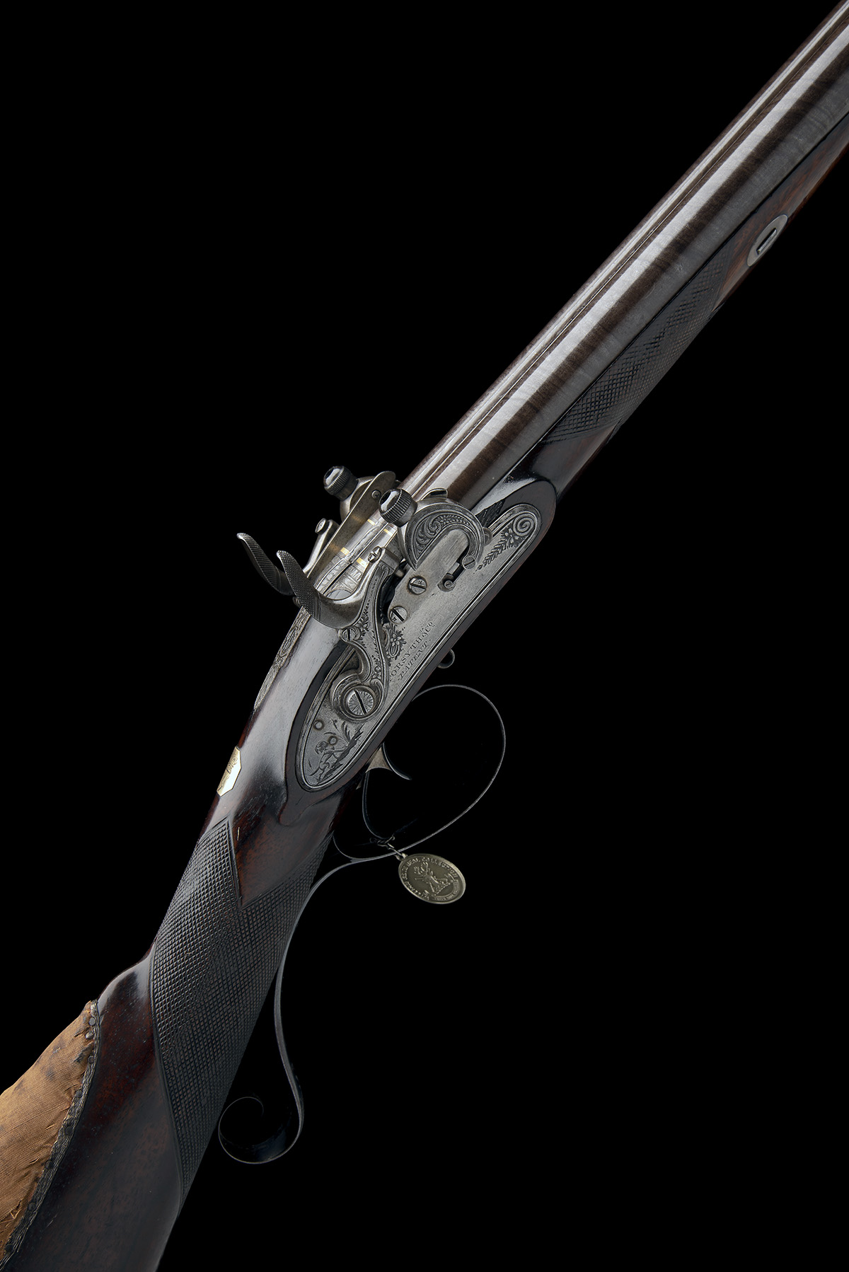 EX W. KEITH NEAL: FORSYTH & CO., LONDON AN EXCEEDINGLY RARE 19-BORE SELF-PRIMING SPORTING GUN, - Image 13 of 21