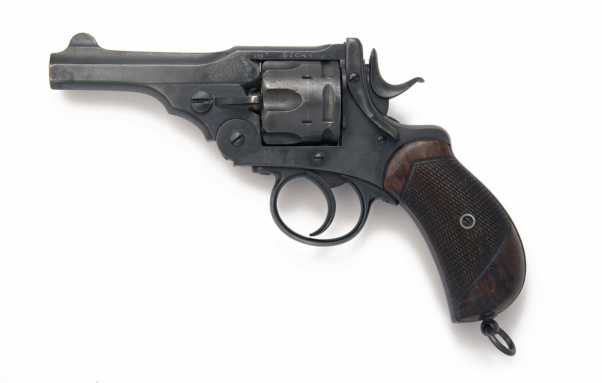 WEBLEY FOR TRULOCK & HARRISS, DUBLIN A .455 SIX-SHOT DOUBLE-ACTION REVOLVER, MODEL 'MKI', serial no.