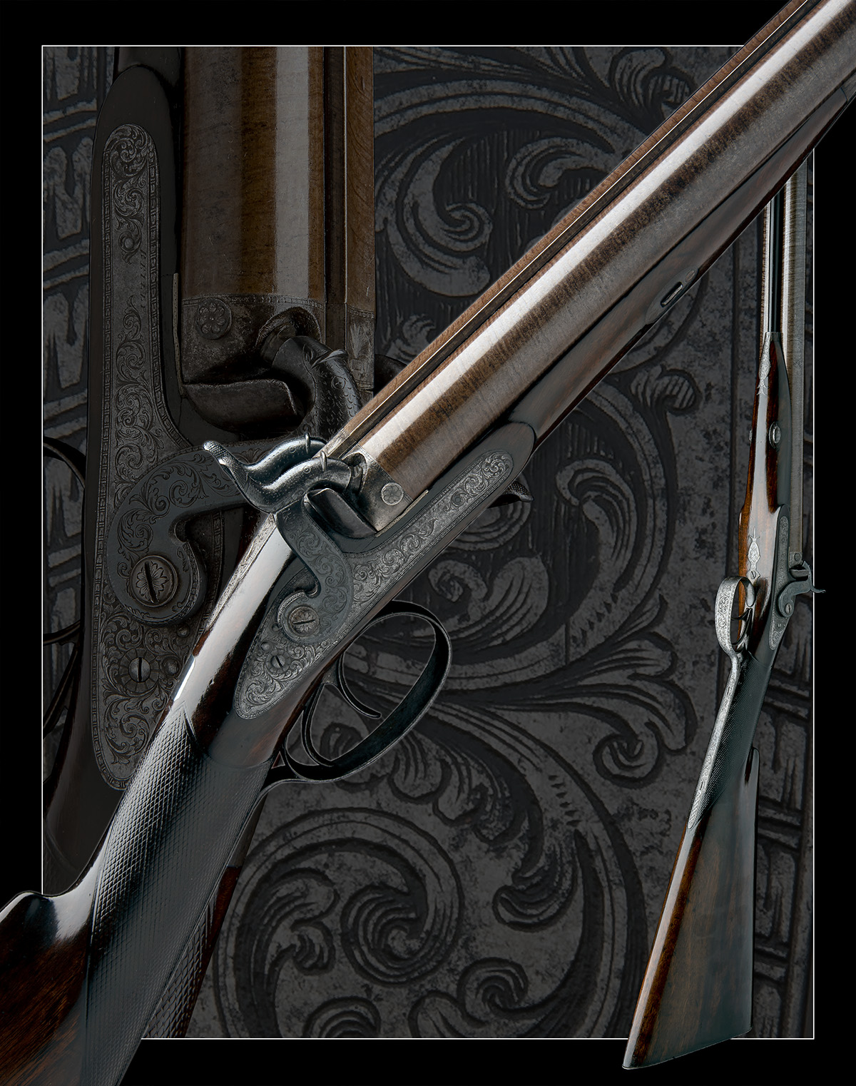J.C. REILLY, LONDON A GOOD 12-BORE PERCUSSION DOUBLE-BARRELLED SPORTING-GUN, serial no 5580, for - Image 11 of 11