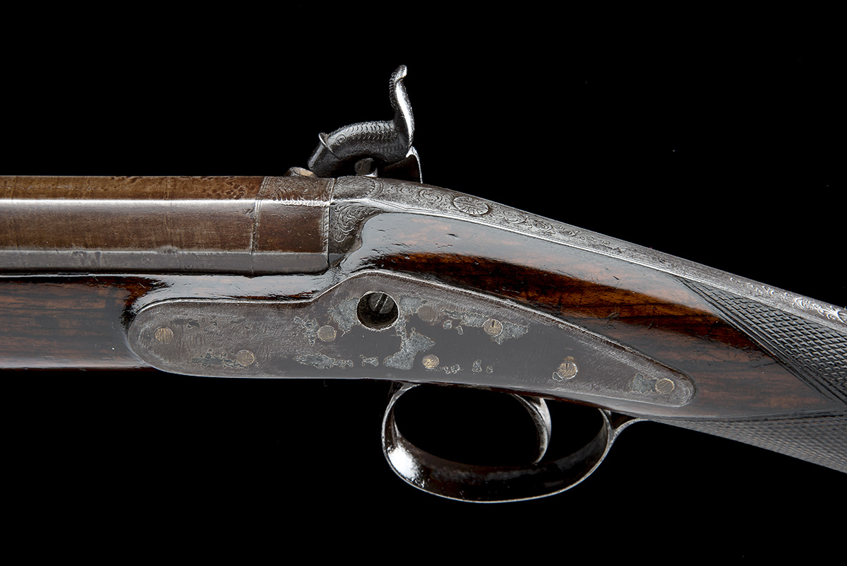 P. HAST, COLCHESTER A 9-BORE PERCUSSION SINGLE-BARRELLED FOWLING-PIECE, no visible serial number, - Image 4 of 8