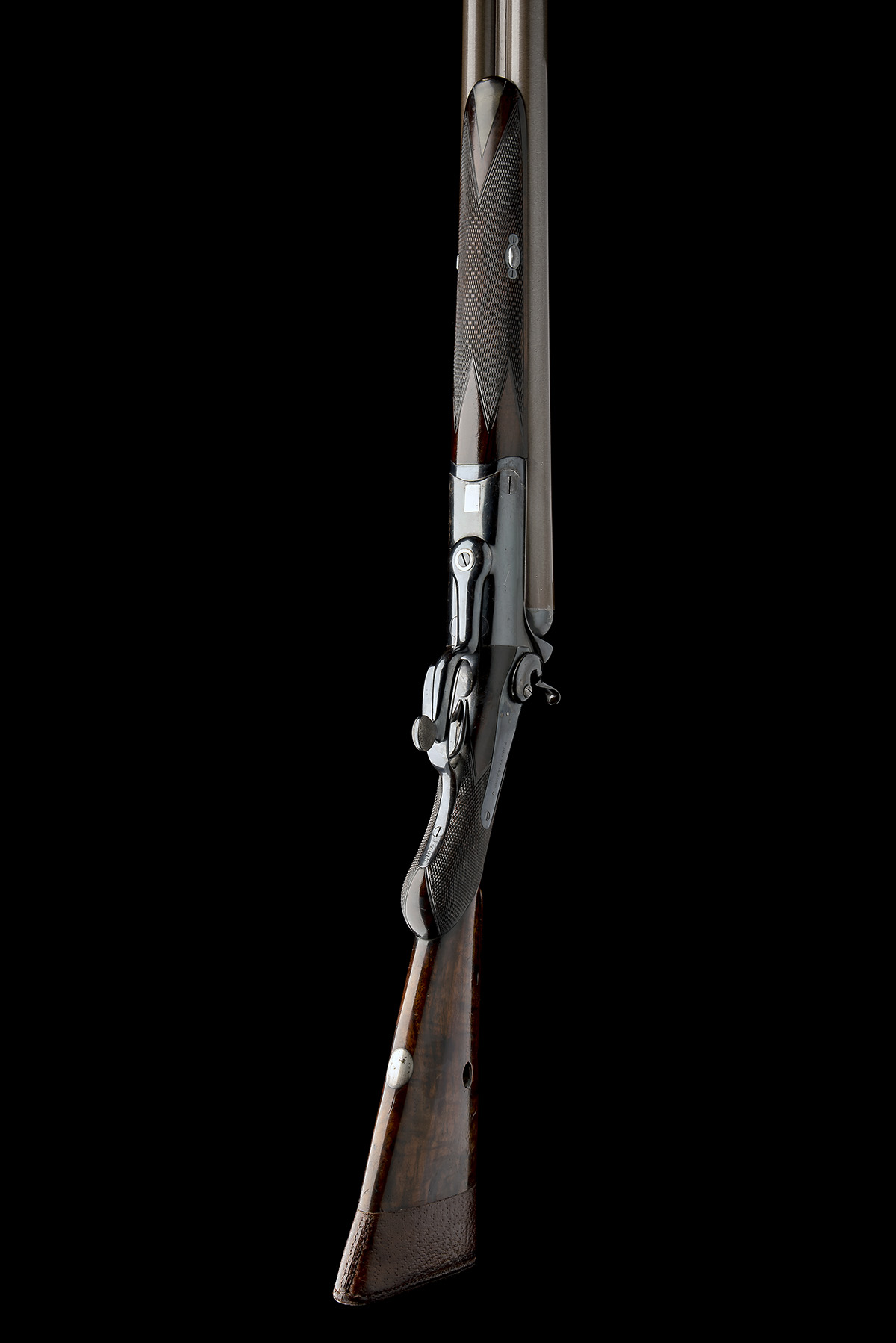 T. BLAND & SONS AN IMPRESSIVE 4-BORE DOUBLE-BARRELLED ROTARY-UNDERLEVER HAMMERGUN, serial no. - Image 3 of 10