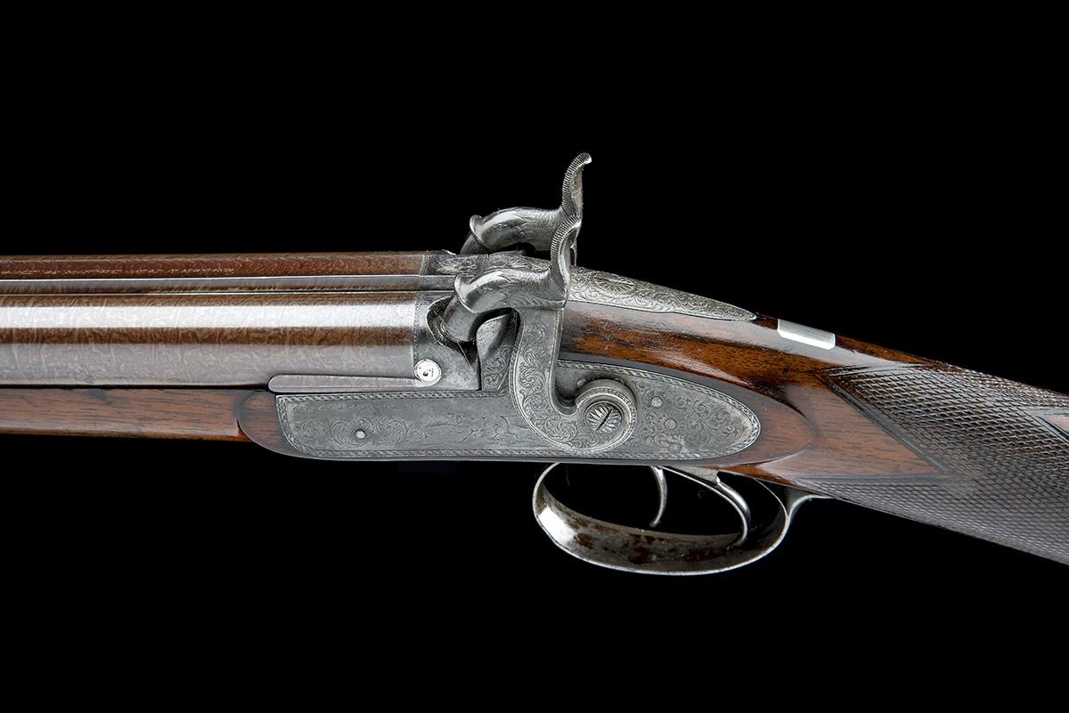 G & J DEAN, LONDON A FINE 16-BORE PERCUSSION DOUBLE-BARRELLED SPORTING-GUN, serial no. 6201, circa - Image 4 of 8