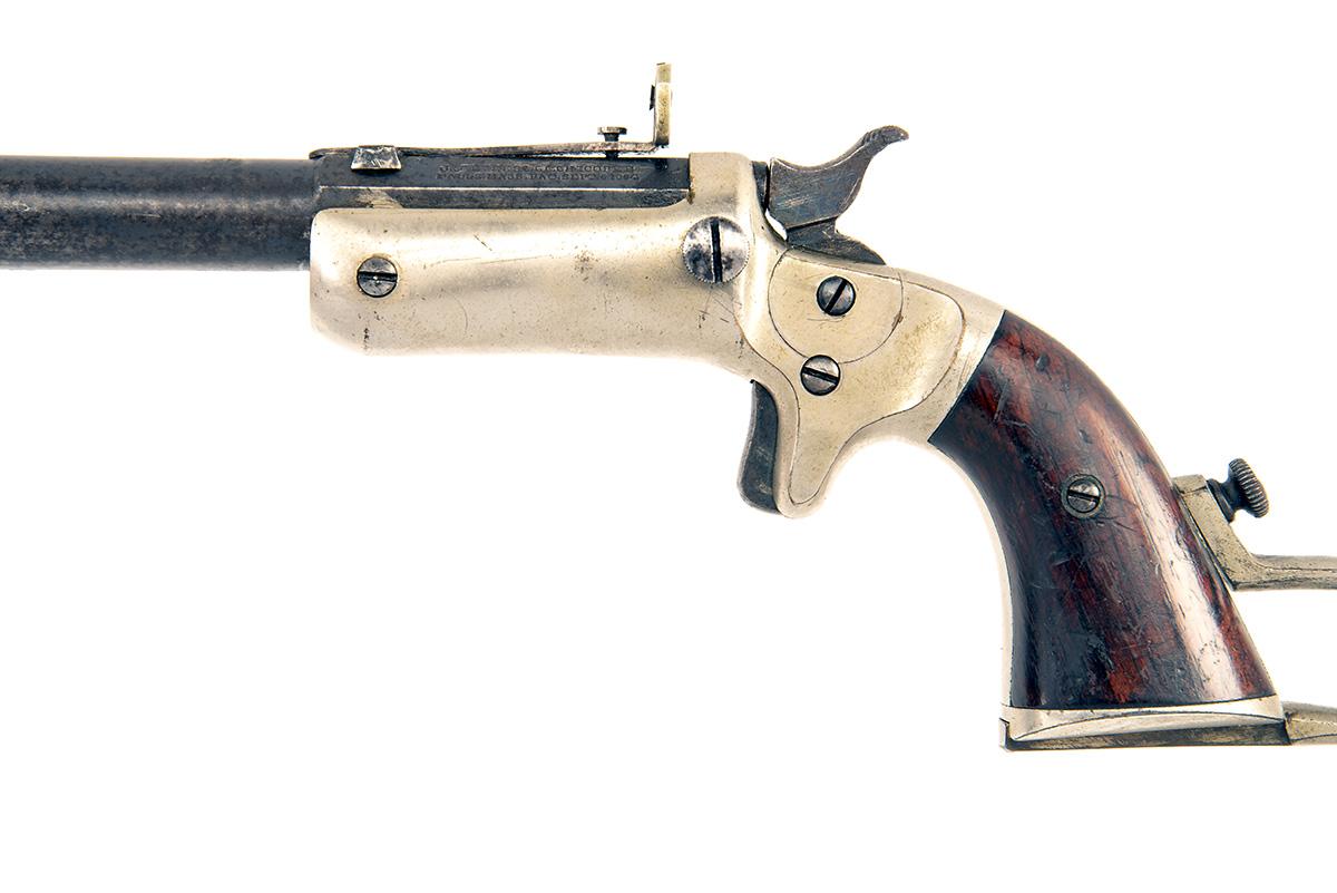 J. STEVENS, USA A .32 (RIMFIRE) TAKE-DOWN SHORT POCKET-RIFLE, MODEL 'NEW MODEL POCKET-RIFLE', serial - Image 3 of 4