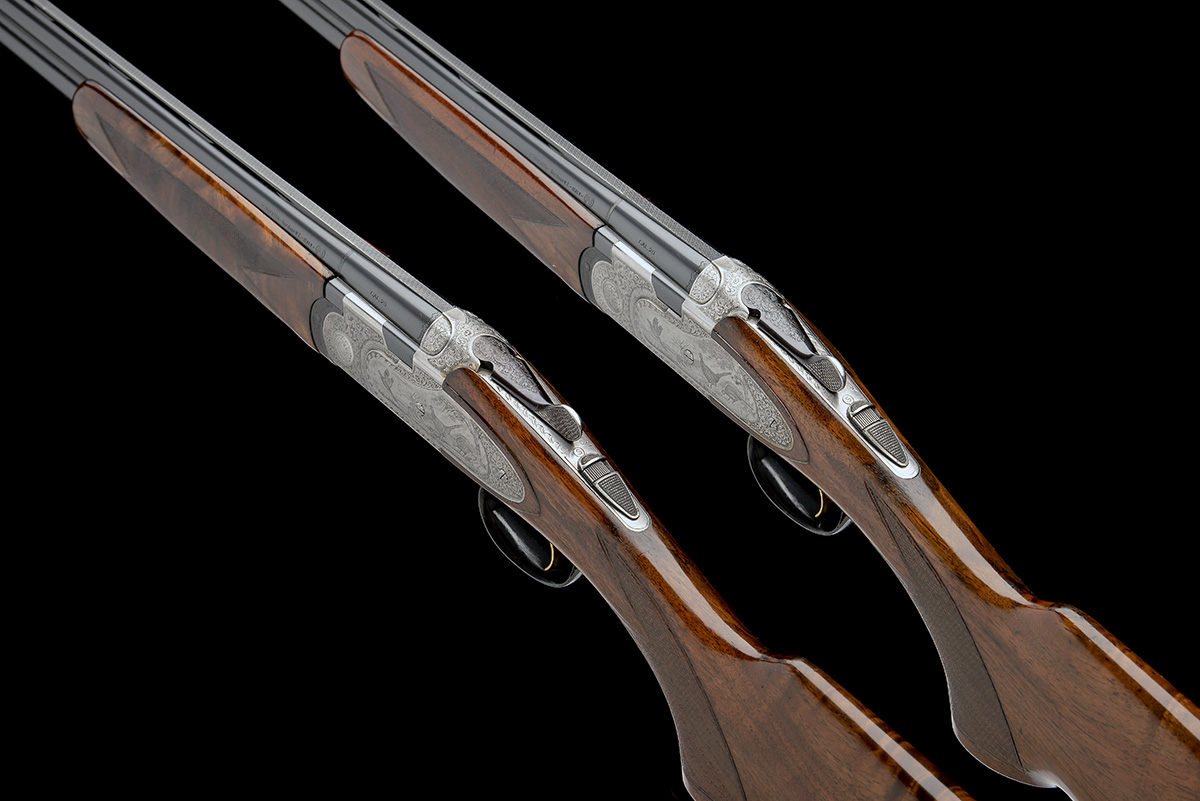 P. BERETTA A PAIR OF 20-BORE 'MOD. 687 EELL' SINGLE-TRIGGER OVER AND UNDER EJECTORS, serial no. - Image 5 of 10