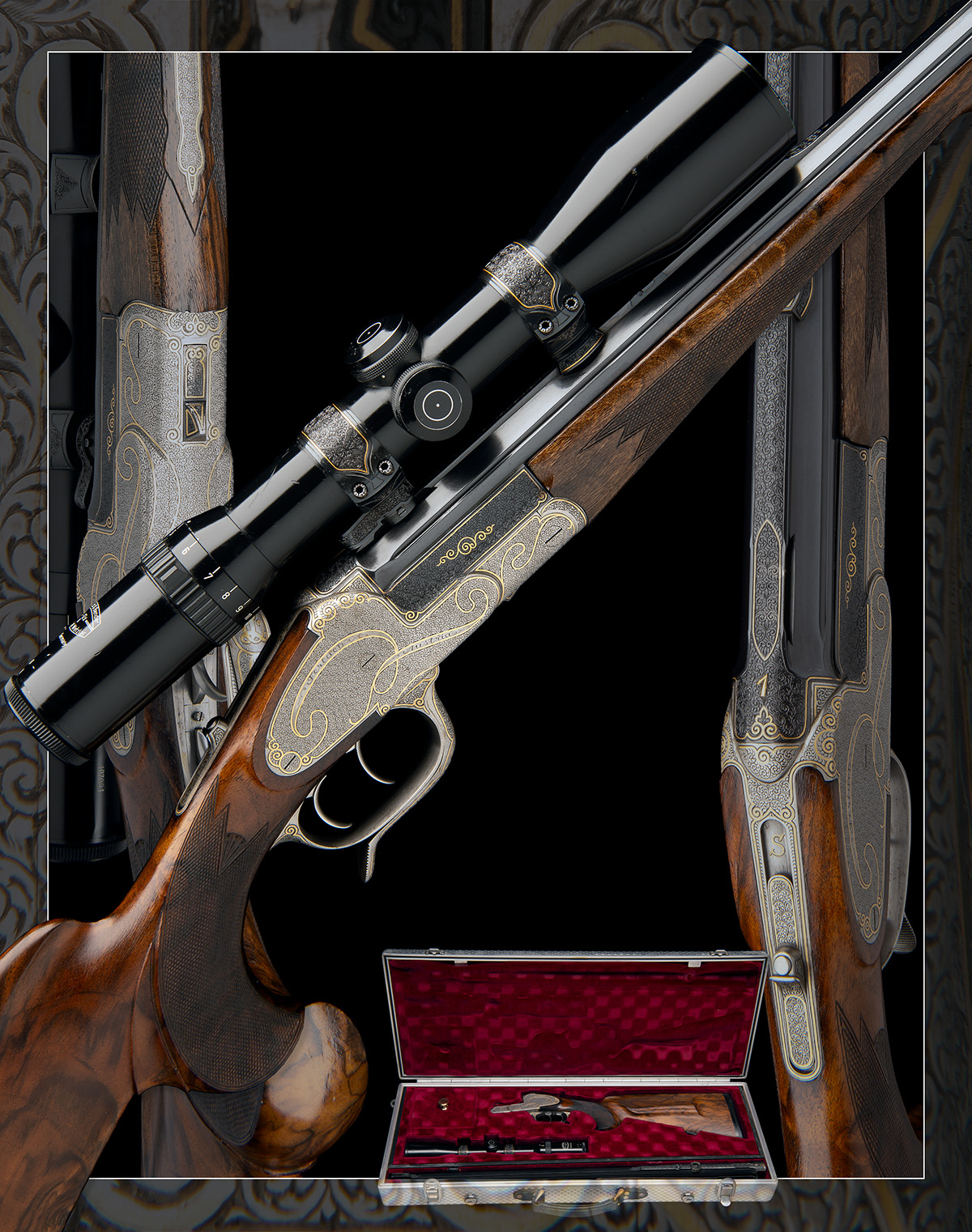 H. SCHEIRING A .300 WIN. MAG. JAEGER PATENT SINGLE-BARRELLED SIDEPLATED PUSH-FORWARD UNDERLEVER - Image 13 of 13