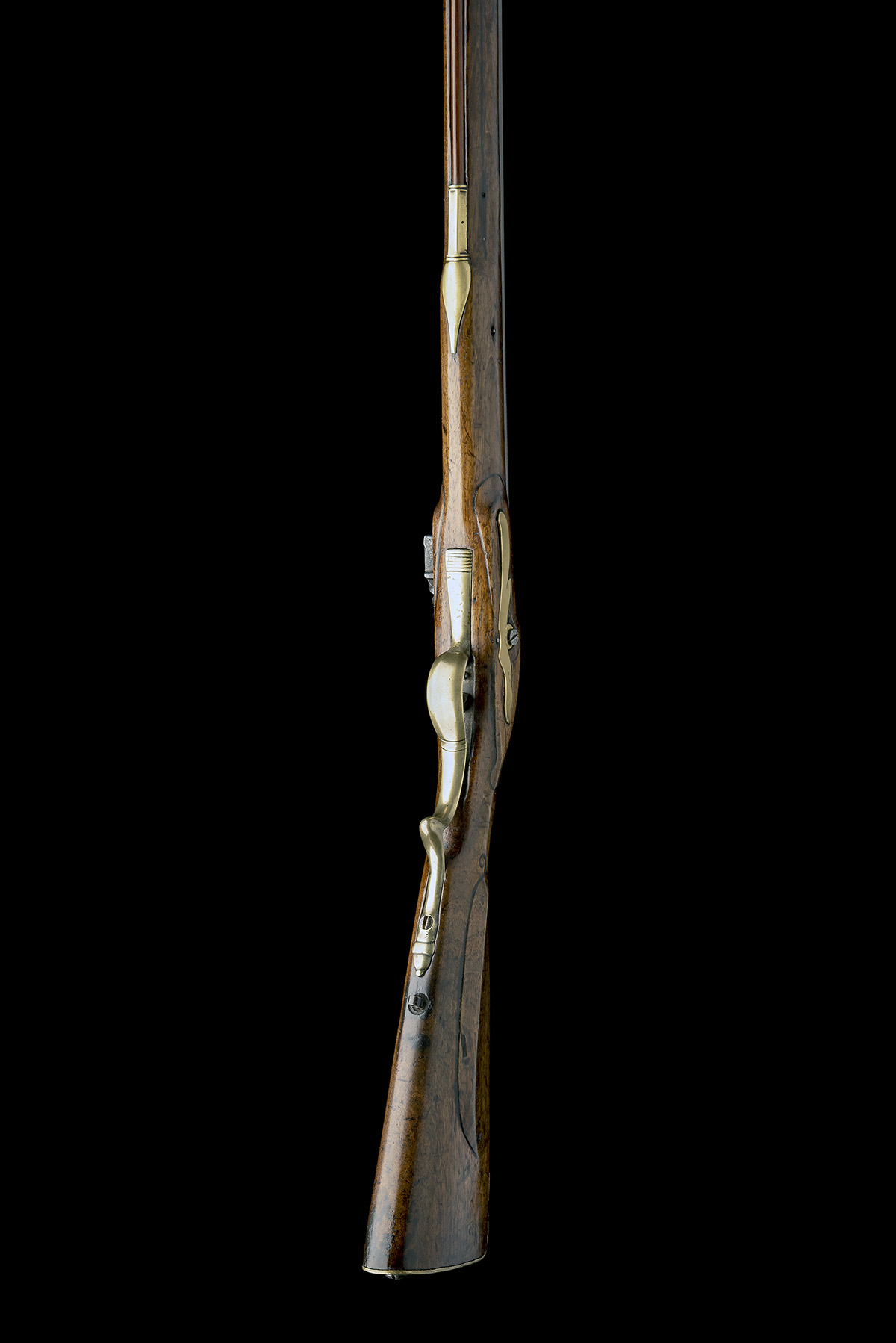 A .650 FLINTLOCK SPORTING-RIFLE SIGNED INNES, no visible serial number, circa 1780 and of jager - Image 6 of 9