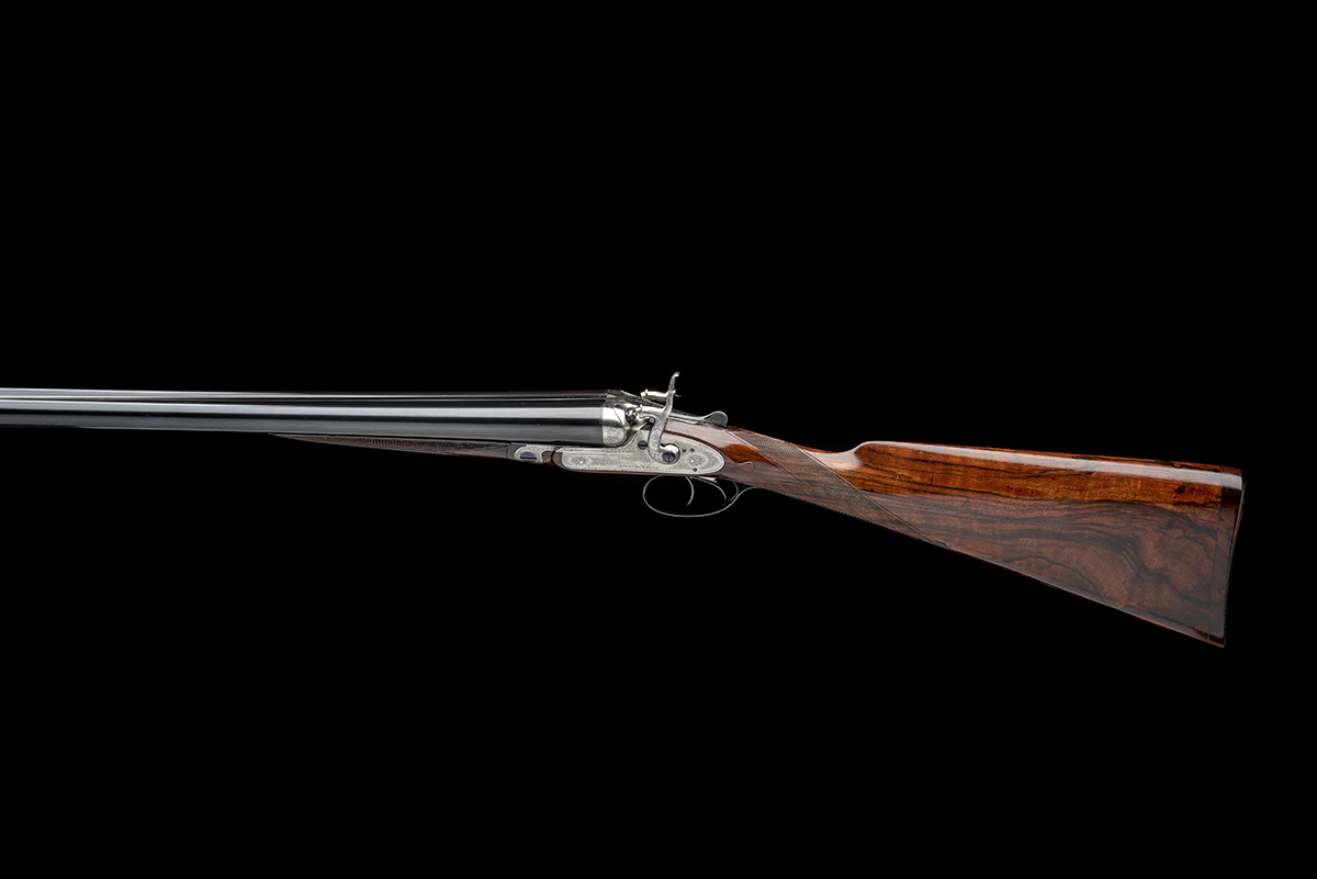 J. PURDEY & SONS A 12-BORE BAR-IN-WOOD TOPLEVER HAMMERGUN, serial no. 11619, circa 1883, 30in. nitro - Image 2 of 7