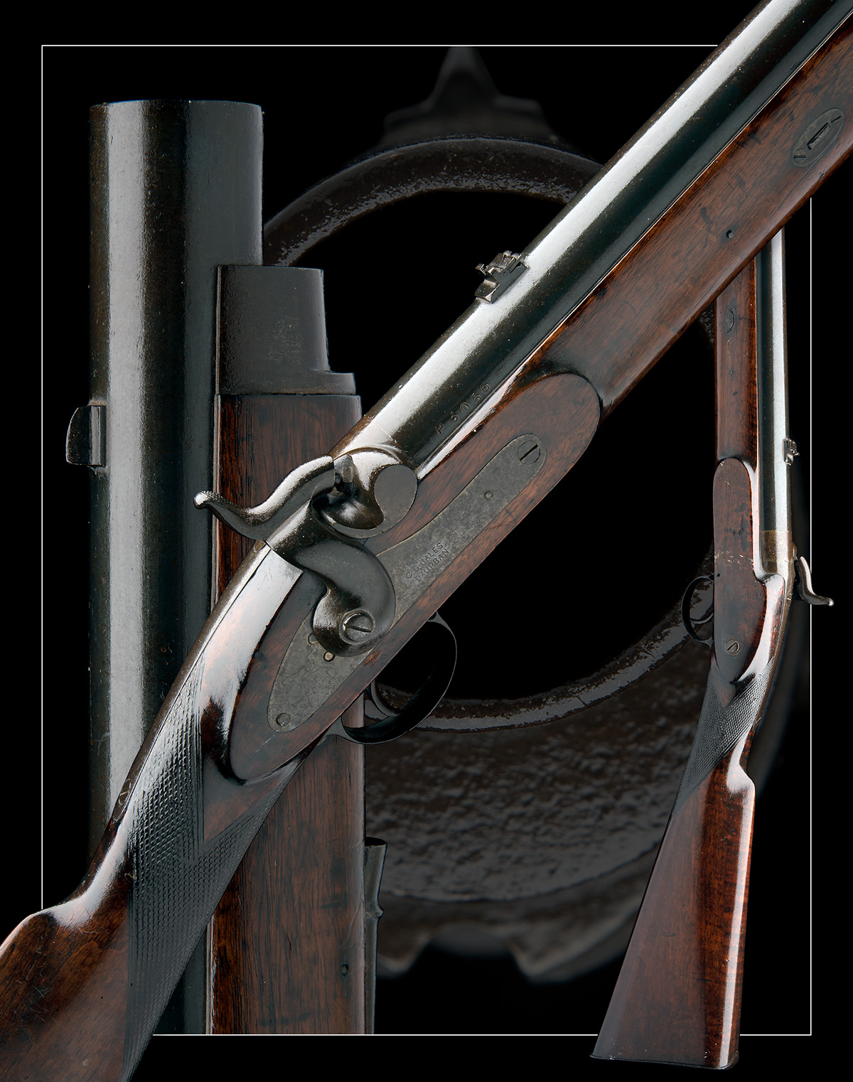C.G. BALES, DURBAN, SOUTH AFRICA A RARE 4-BORE PERCUSSION RIFLED SHOT & BALL GUN FOR DANGEROUS GAME, - Image 10 of 10