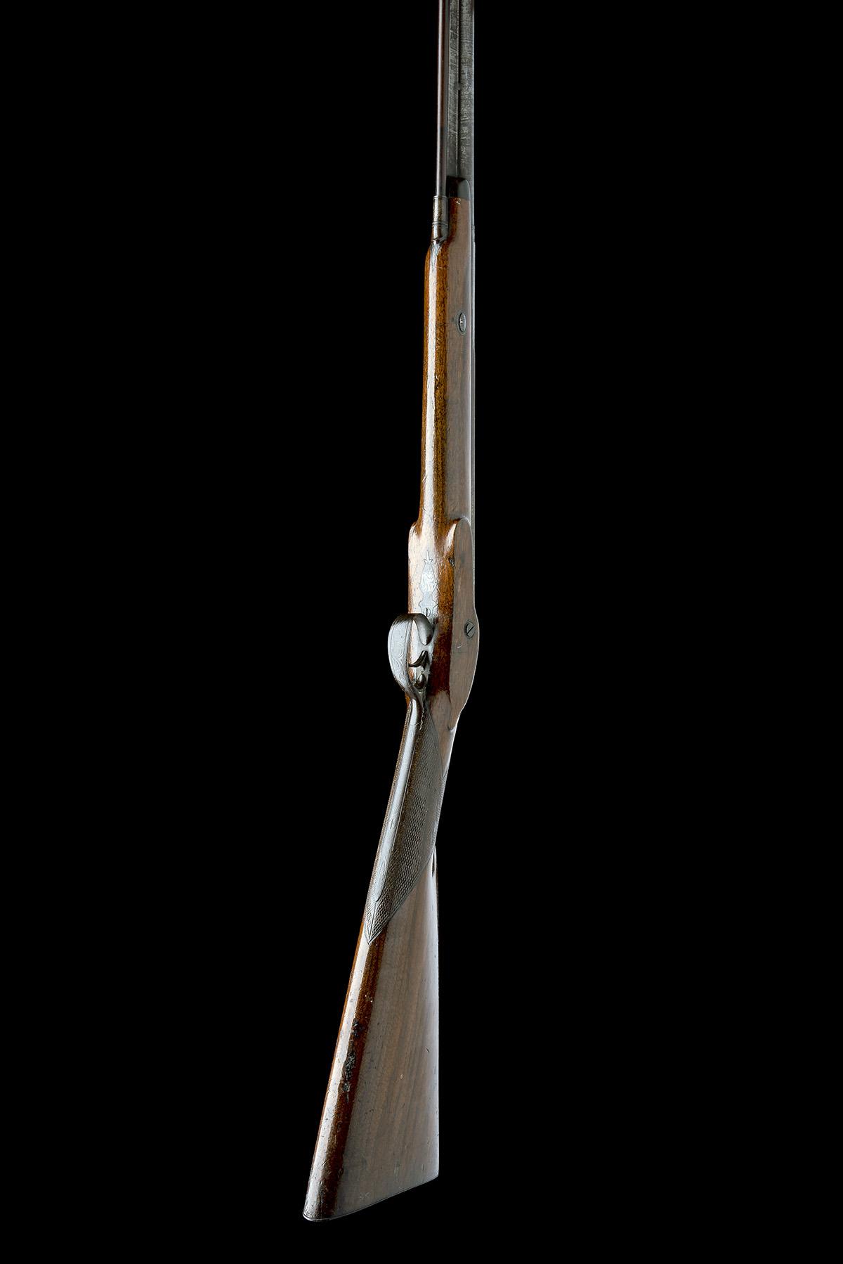 W. DAVISON, NEWCASTLE A 14-BORE PERCUSSION SINGLE-BARRELLED SPORTING-GUN, no visible serial - Image 3 of 10