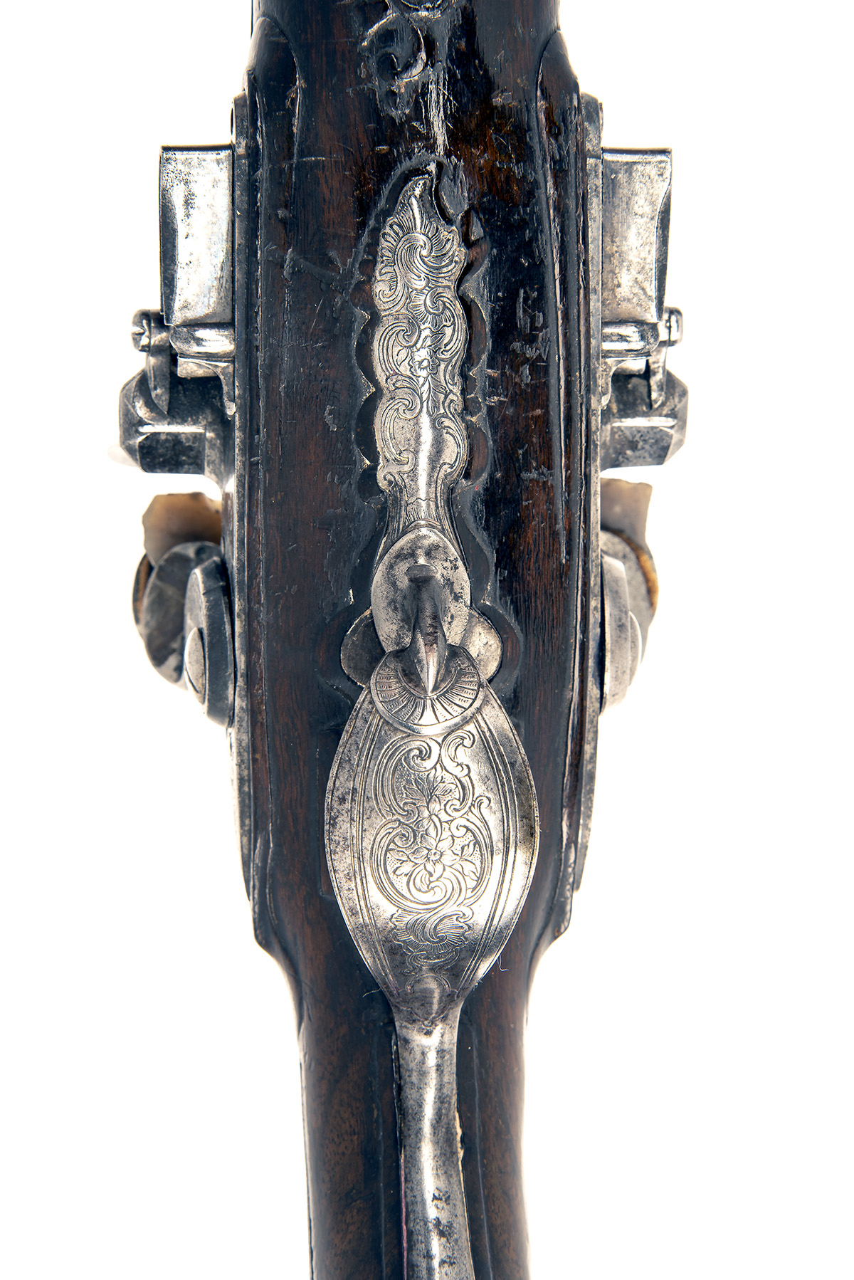CAIRES, ST ETIENNE, FRANCE A GOOD PAIR OF 28-BORE FLINTLOCK DOUBLE-BARRELLED HOLSTER-PISTOLS, no - Image 5 of 8