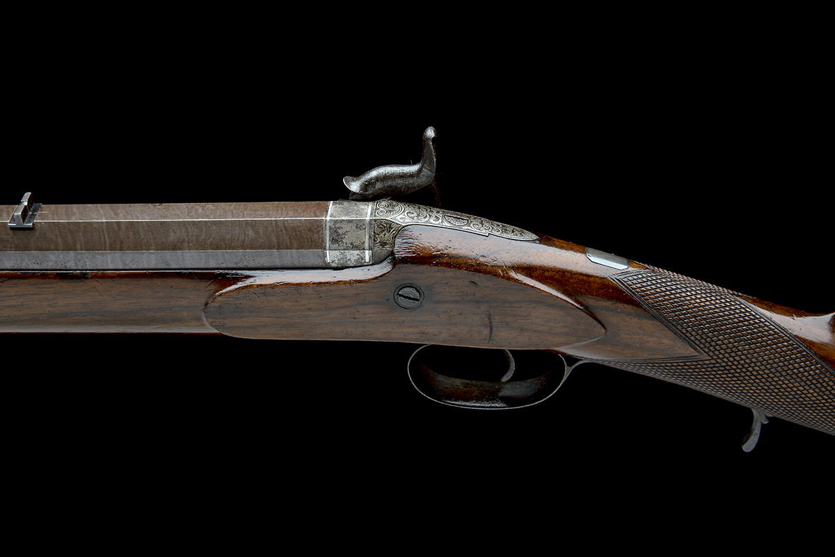 CARTMELL & SON, DONCASTER A GOOD 16-BORE PERCUSSION SINGLE-BARRELLED SPORTING-RIFLE, serial no. - Image 4 of 8