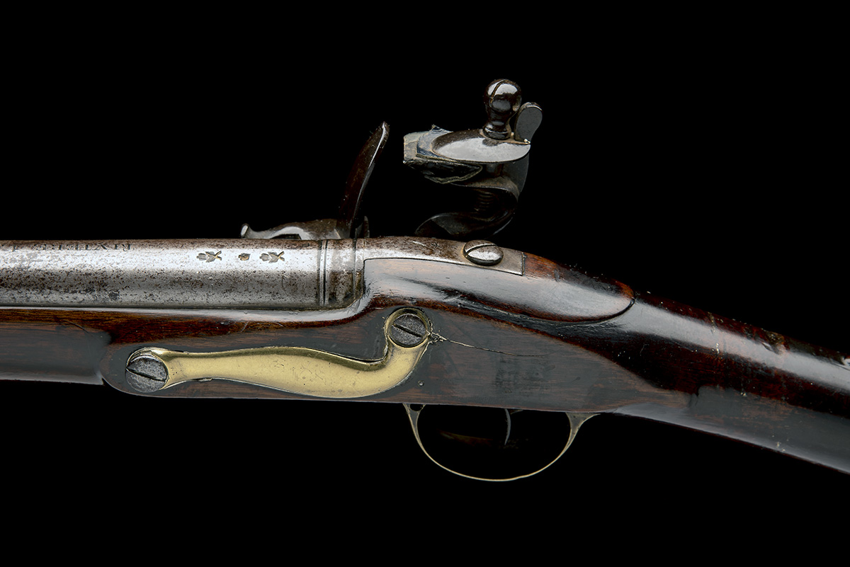 RIVIERE, LONDON A GOOD .750 FLINTLOCK MUSKET, MODEL 'INDIA PATTERN BROWN BESS', rack no. 4, WITH - Image 4 of 9