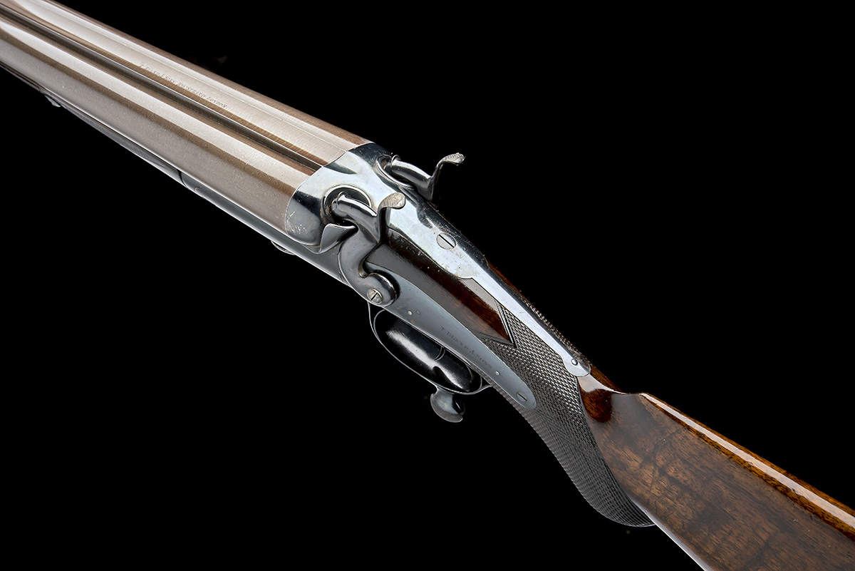 T. BLAND & SONS AN IMPRESSIVE 4-BORE DOUBLE-BARRELLED ROTARY-UNDERLEVER HAMMERGUN, serial no. - Image 7 of 10