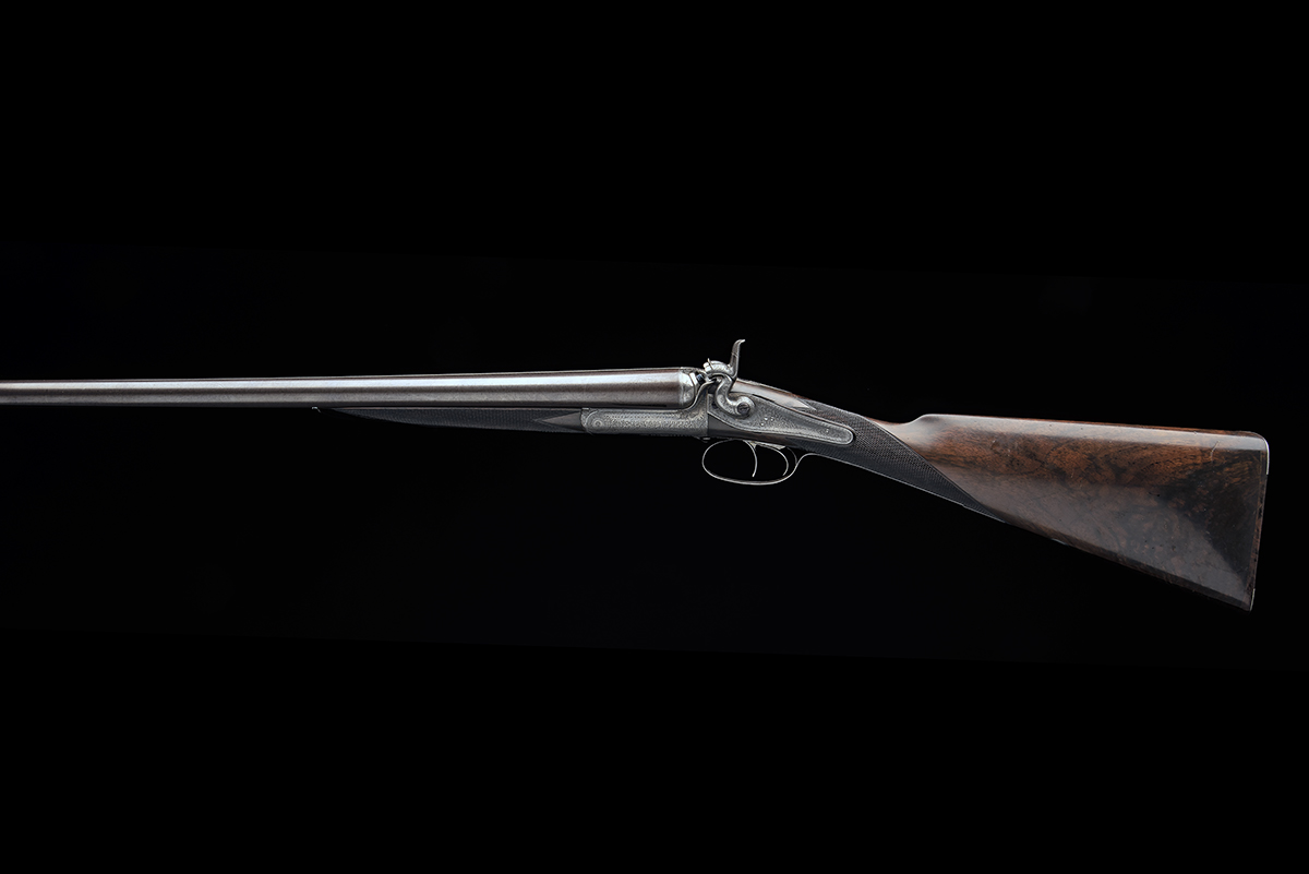 STEPHEN GRANT A 12-BORE 1871 PATENT SIDELEVER HAMMERGUN, serial no. 4419, for 1875, 30in. nitro - Image 7 of 8