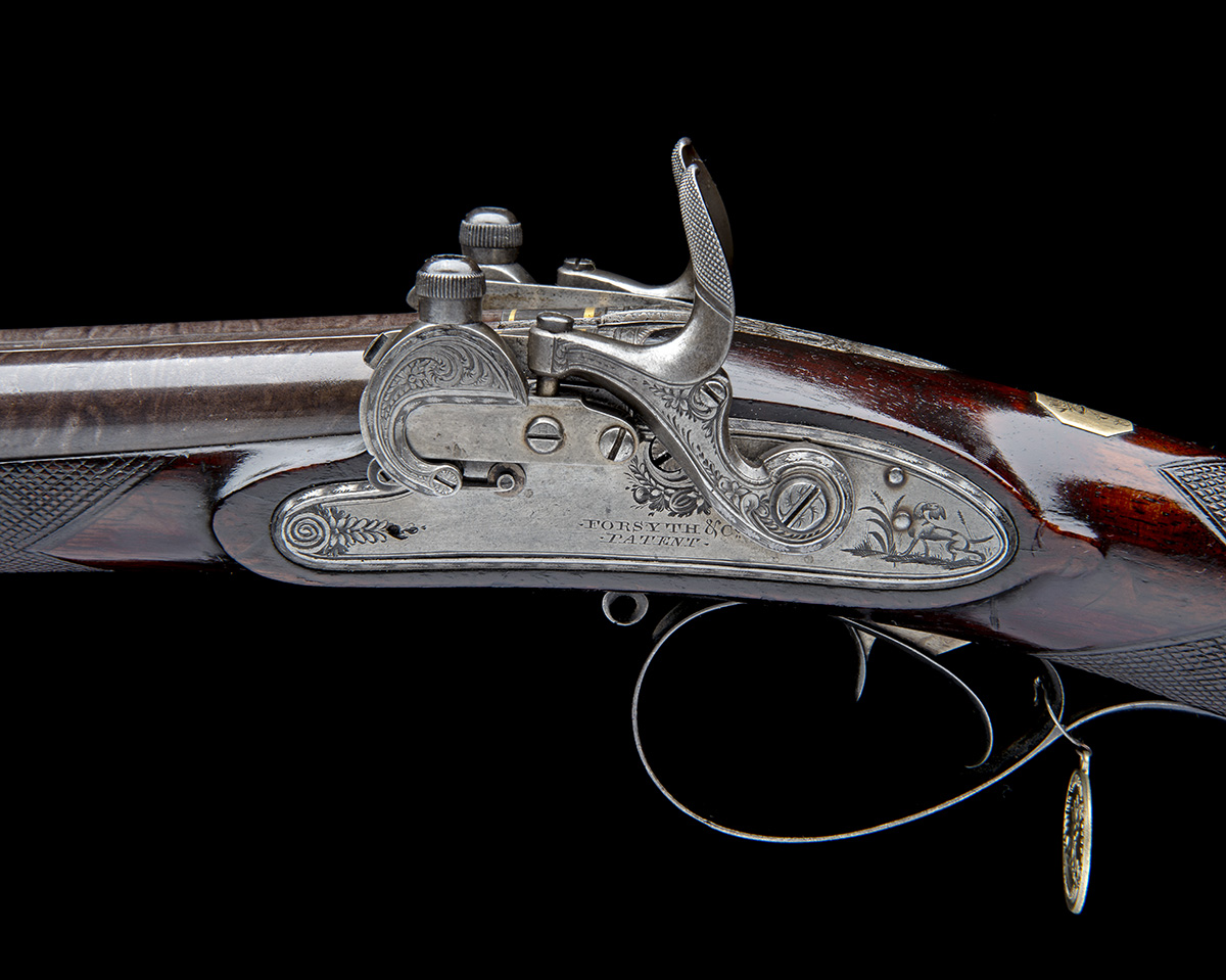 EX W. KEITH NEAL: FORSYTH & CO., LONDON AN EXCEEDINGLY RARE 19-BORE SELF-PRIMING SPORTING GUN, - Image 4 of 21