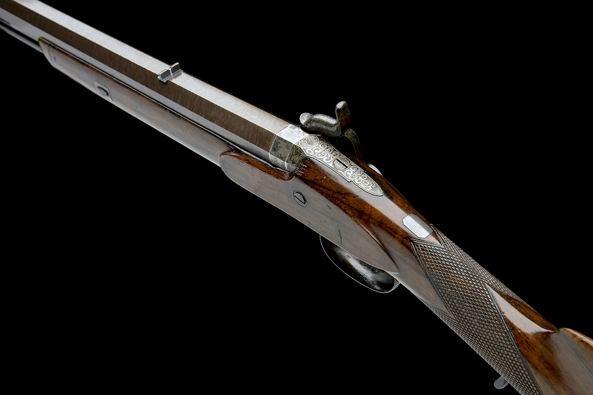 CARTMELL & SON, DONCASTER A GOOD 16-BORE PERCUSSION SINGLE-BARRELLED SPORTING-RIFLE, serial no. - Image 5 of 8