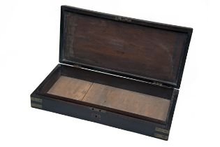 A MAHOGANY CASE CARCASS FOR A PAIR OF DUELLING-PISTOLS first quarter of the 19th century,