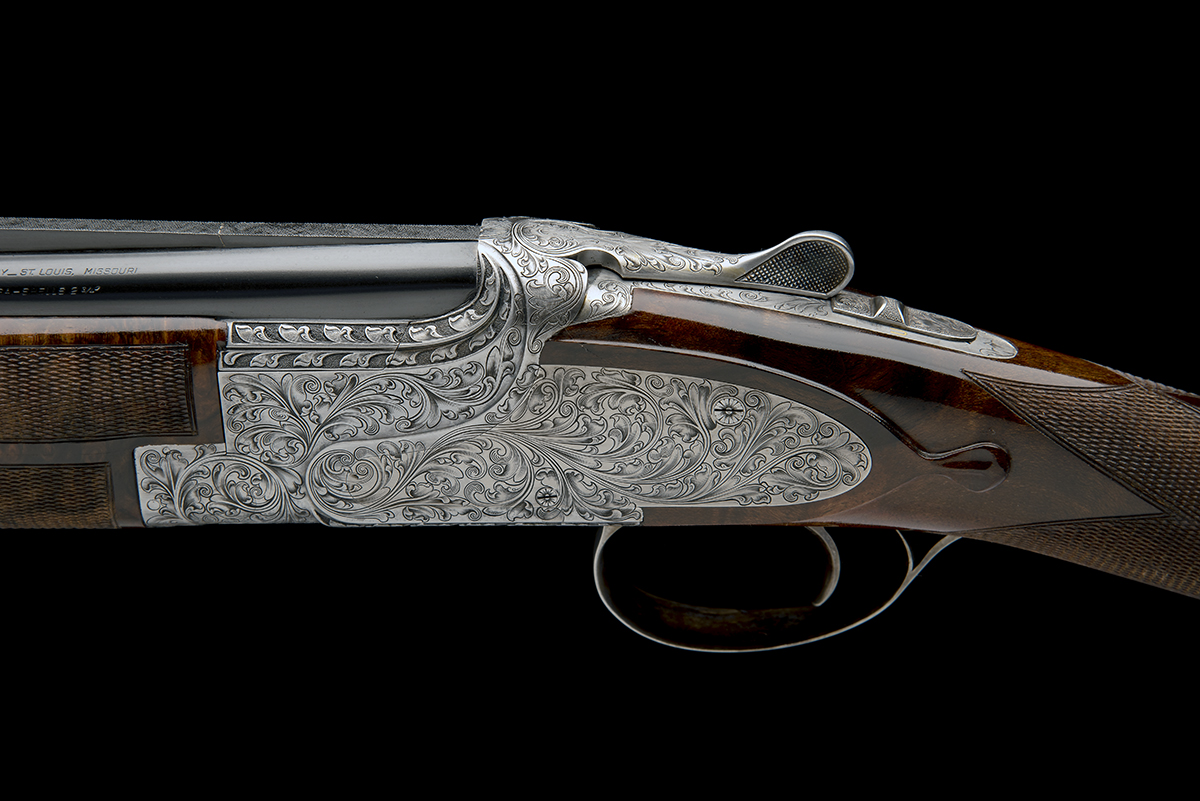 BROWNING ARMS CO. A CUSTOM JACOBY-ENGRAVED 20-BORE SIDEPLATED 'B25' SINGLE-TRIGGER OVER AND UNDER - Image 4 of 11