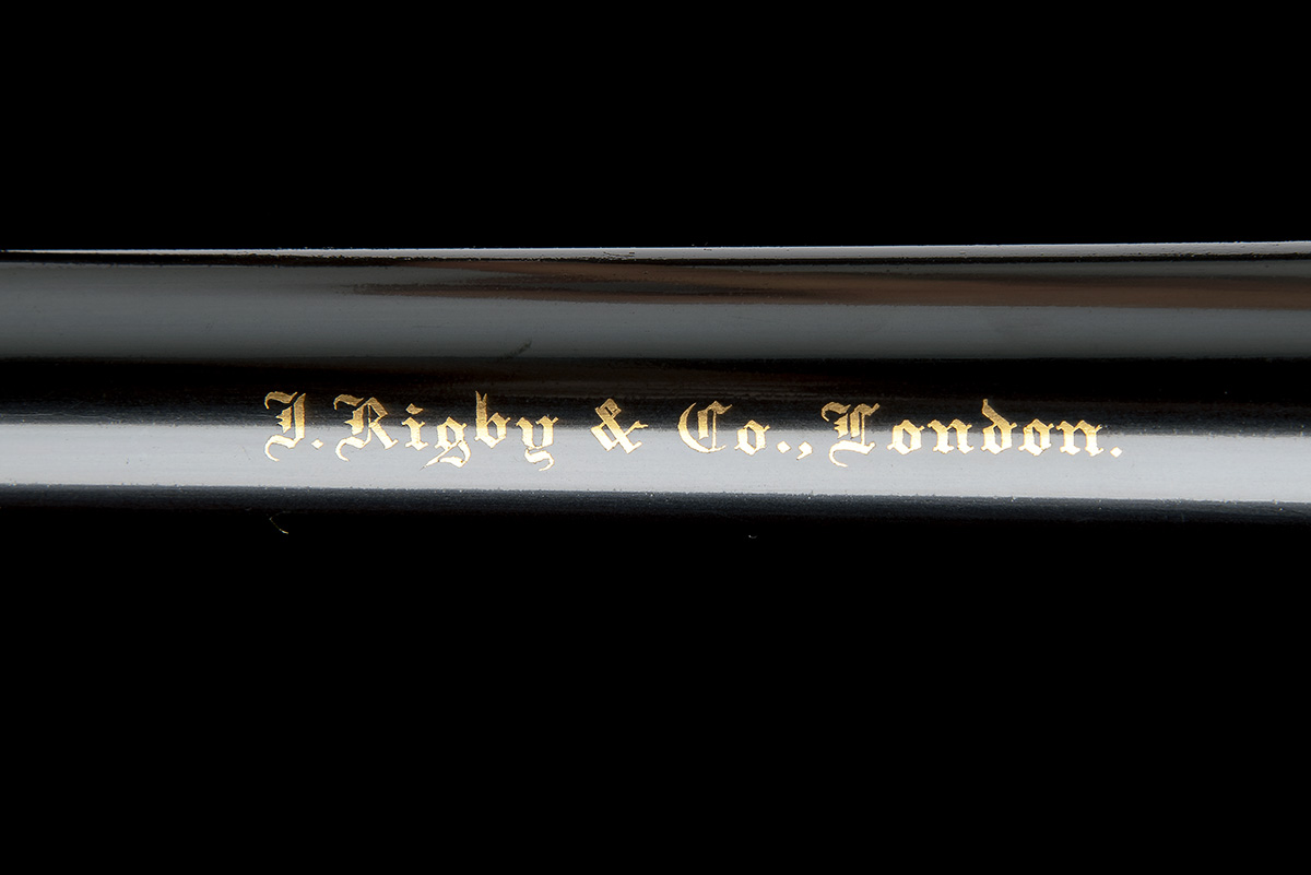 J. RIGBY & CO. A FINE, HUNT-ENGRAVED .375 H&H MAGNUM BOLT-MAGAZINE SPORTING RIFLE, serial no. - Image 9 of 12
