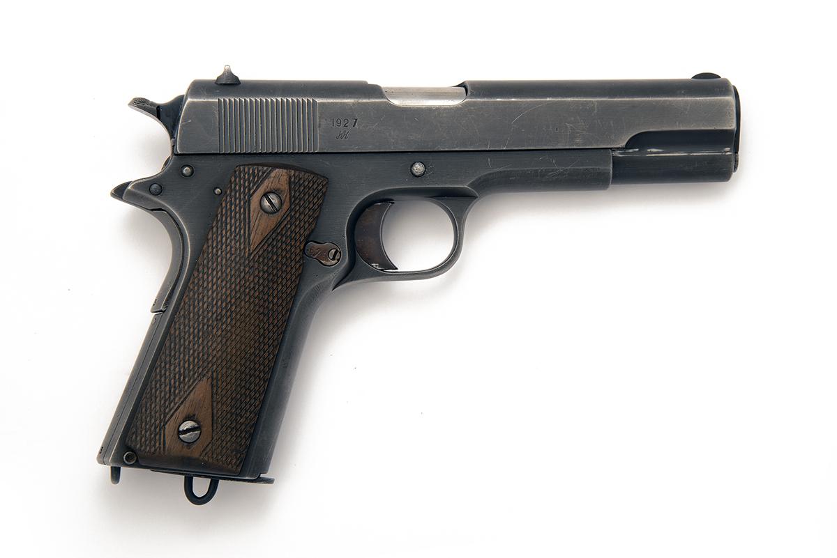 KONGSBERG, NORWAY A SCARCE 11.25mm (.45 ACP) SEMI-AUTOMATIC SERVICE-PISTOL, MODEL 'M1914', serial