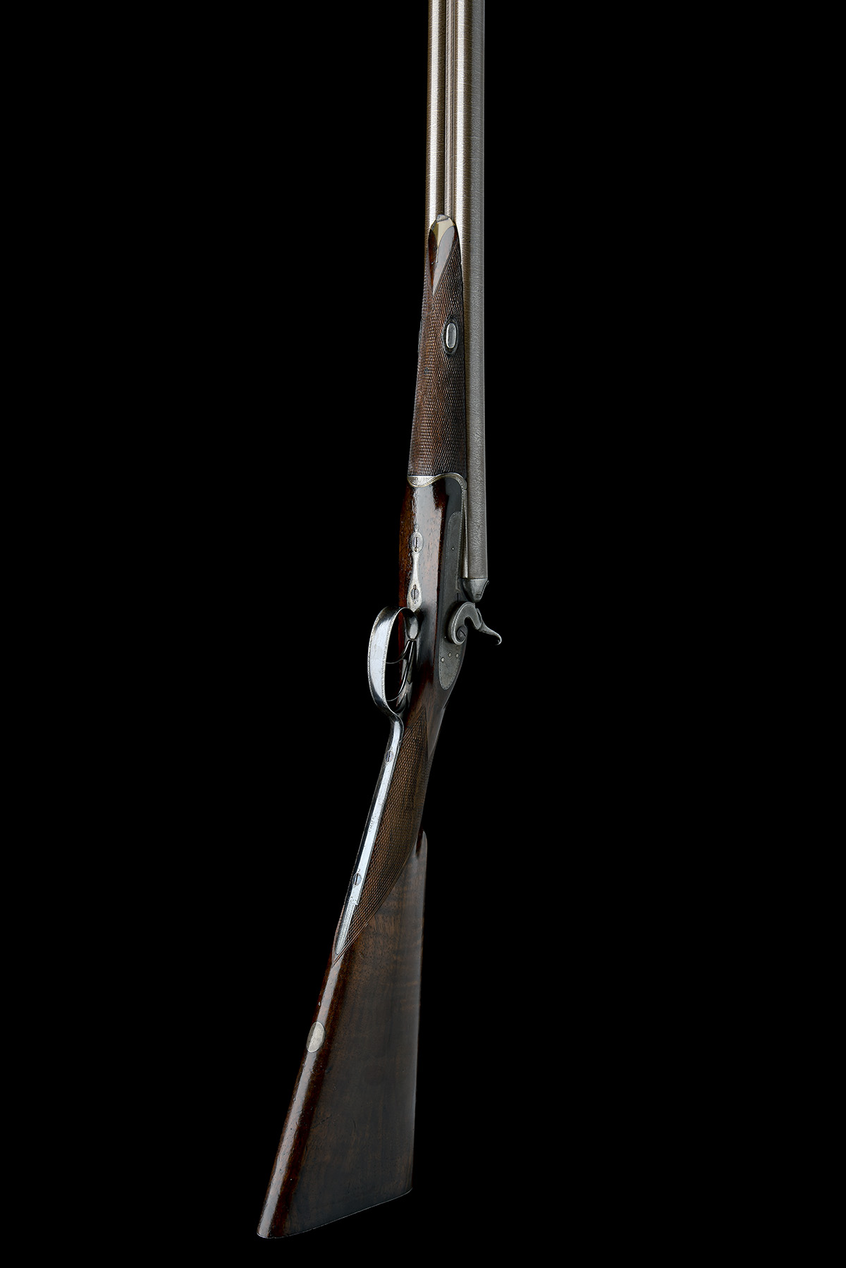WILLIAM POWELL & SON A 12-BORE 1864 PATENT BAR-IN-WOOD LIFT-UP TOPLEVER ROTATING SINGLE BOLT SNAP- - Image 6 of 8