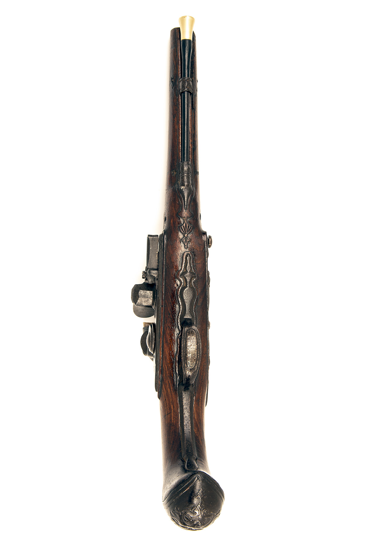 A 22-BORE FLINTLOCK HORSE-PISTOL, UNSIGNED, no visible serial number, German or Bohemian circa 1775, - Image 3 of 7