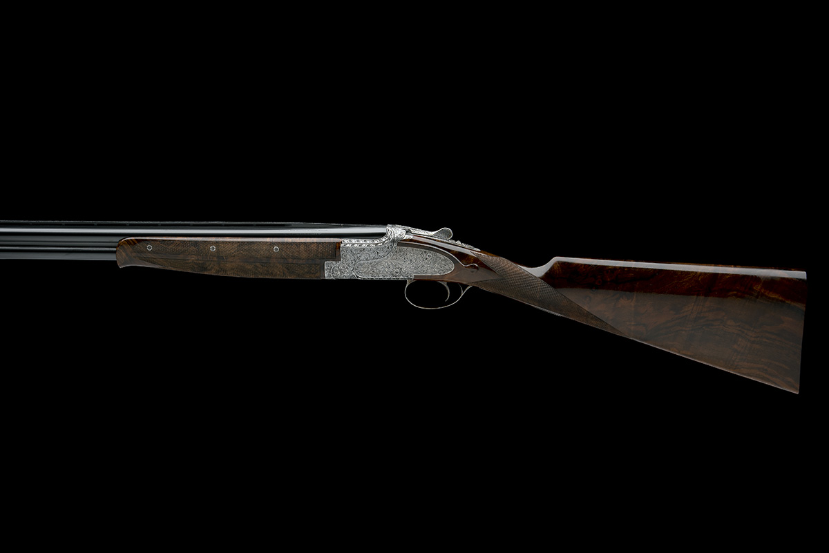 BROWNING ARMS CO. A CUSTOM JACOBY-ENGRAVED 20-BORE SIDEPLATED 'B25' SINGLE-TRIGGER OVER AND UNDER - Image 2 of 11