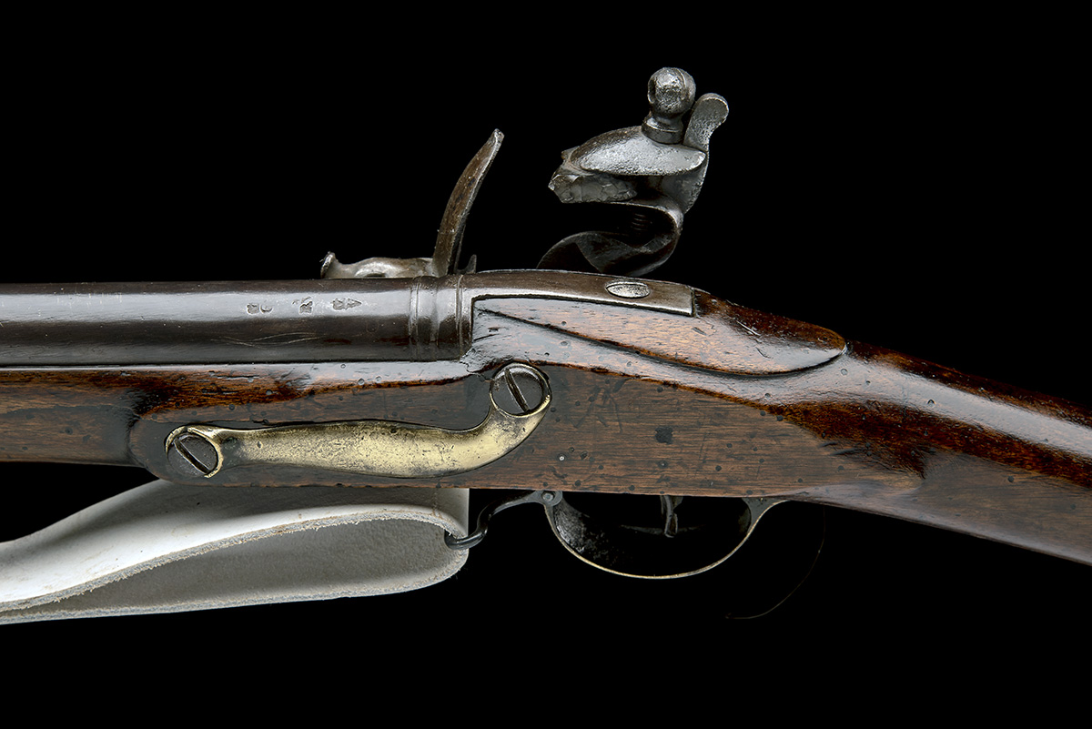 REED, LONDON A .750 FLINTLOCK MUSKET, MODEL 'INDIA PATTERN BROWN BESS', rack no. 47, WITH BAYONET, - Image 4 of 8