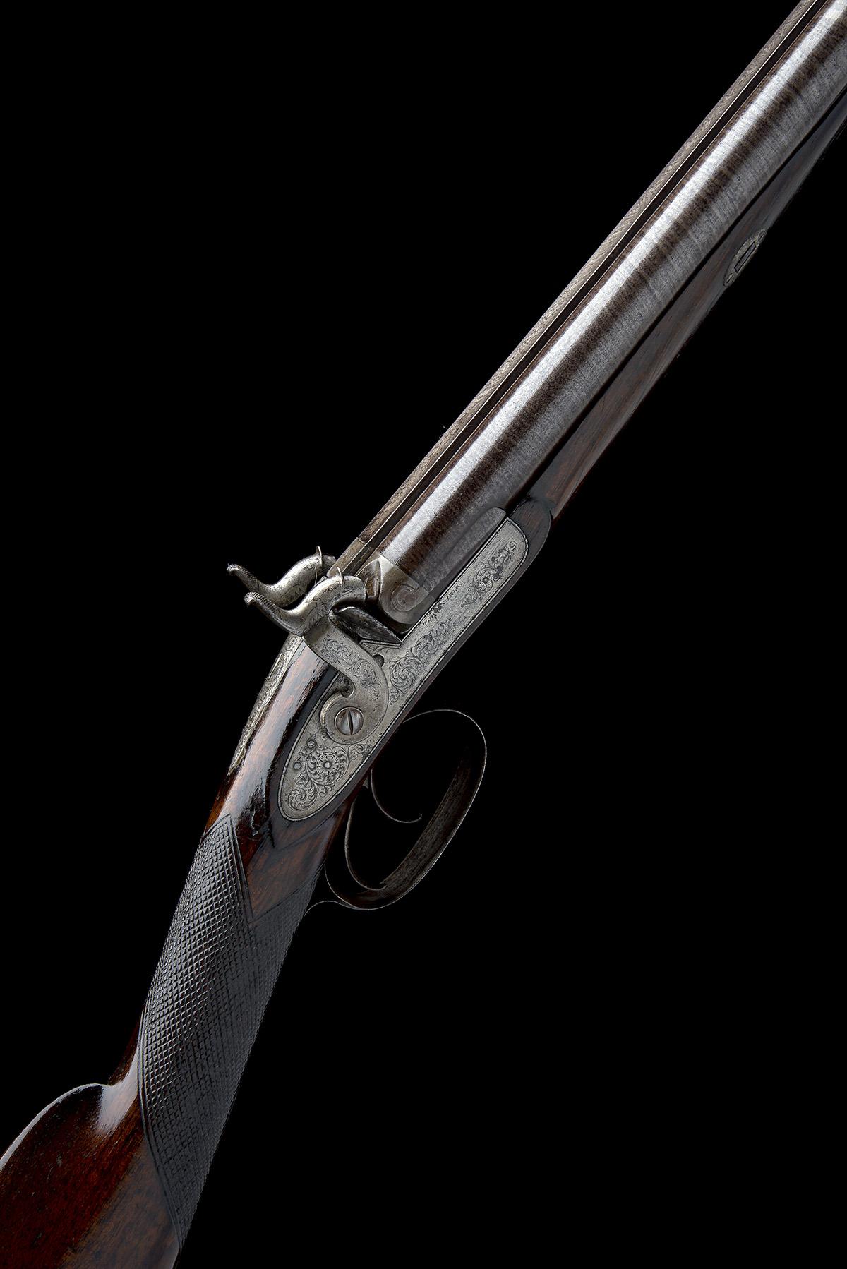 THOMAS BOSS, LONDON A 16-BORE PERCUSSION DOUBLE-BARRELLED SPORTING-GUN, serial no. 605, for 1844,