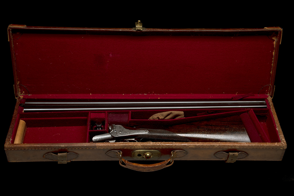 FREDc. T. BAKER A 12-BORE NEEDHAM 1874 PATENT HAMMERLESS SIDELOCK EJECTOR, serial no. 6749, circa - Image 10 of 11