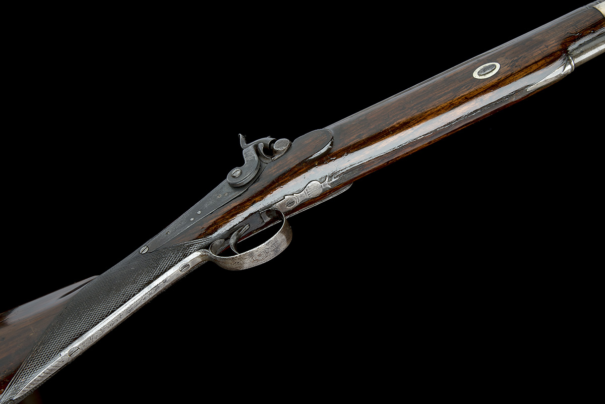 P. HAST, COLCHESTER A 9-BORE PERCUSSION SINGLE-BARRELLED FOWLING-PIECE, no visible serial number, - Image 3 of 8