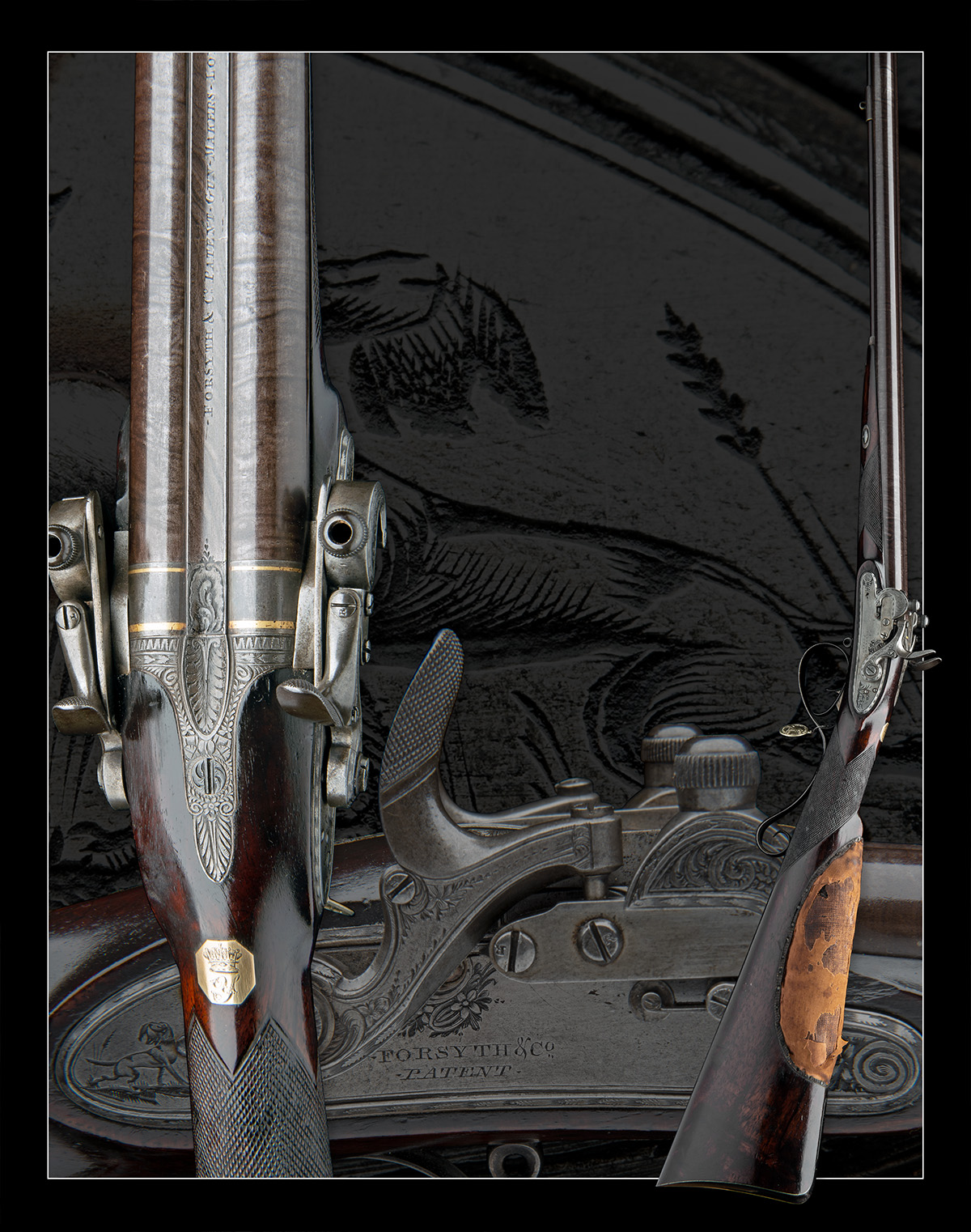EX W. KEITH NEAL: FORSYTH & CO., LONDON AN EXCEEDINGLY RARE 19-BORE SELF-PRIMING SPORTING GUN, - Image 11 of 21