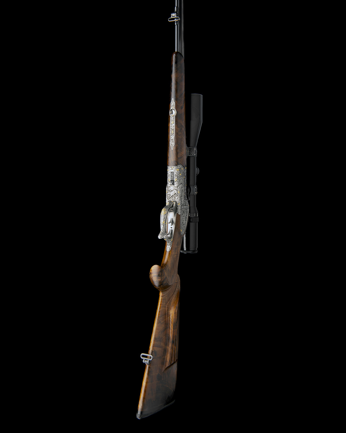 H. SCHEIRING AN 8X57RS / 5.6X50R MAG. JAEGER PATENT SIDEPLATED OVER AND UNDER PUSH-FORWARD - Image 4 of 12