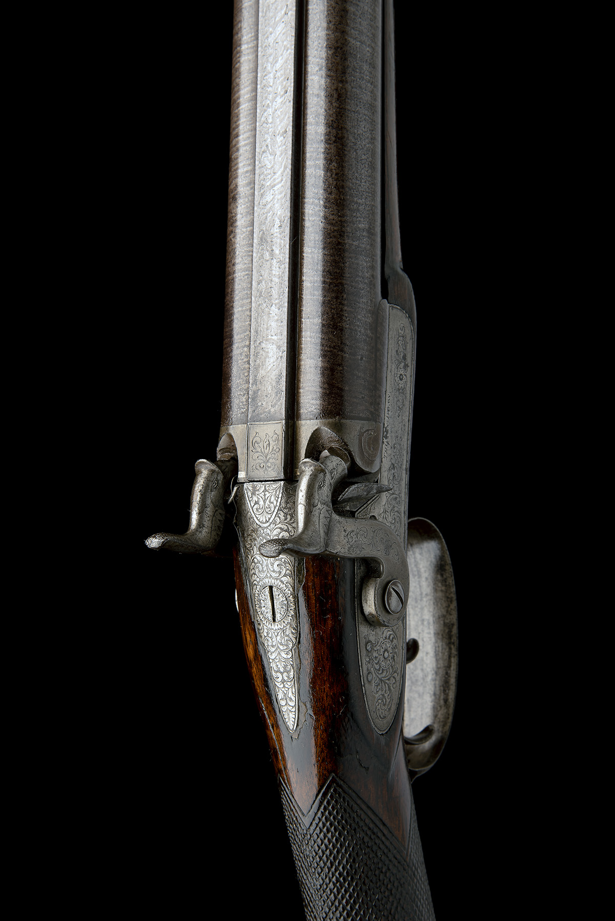 THOMAS BOSS, LONDON A 16-BORE PERCUSSION DOUBLE-BARRELLED SPORTING-GUN, serial no. 605, for 1844, - Image 6 of 8