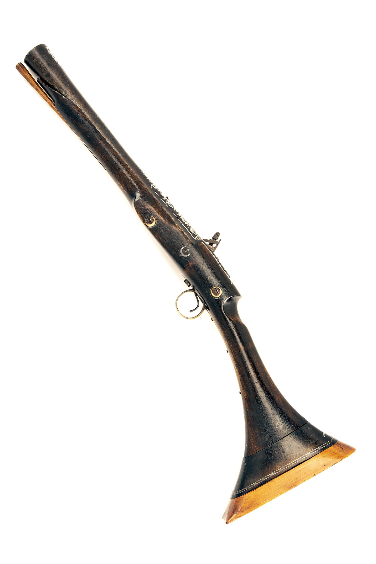 A 20-BORE SNAPHAUNCE BLUNDERBUSS or BREAST-PISTOL, UNSIGNED, no visible serial number, North African - Image 2 of 4