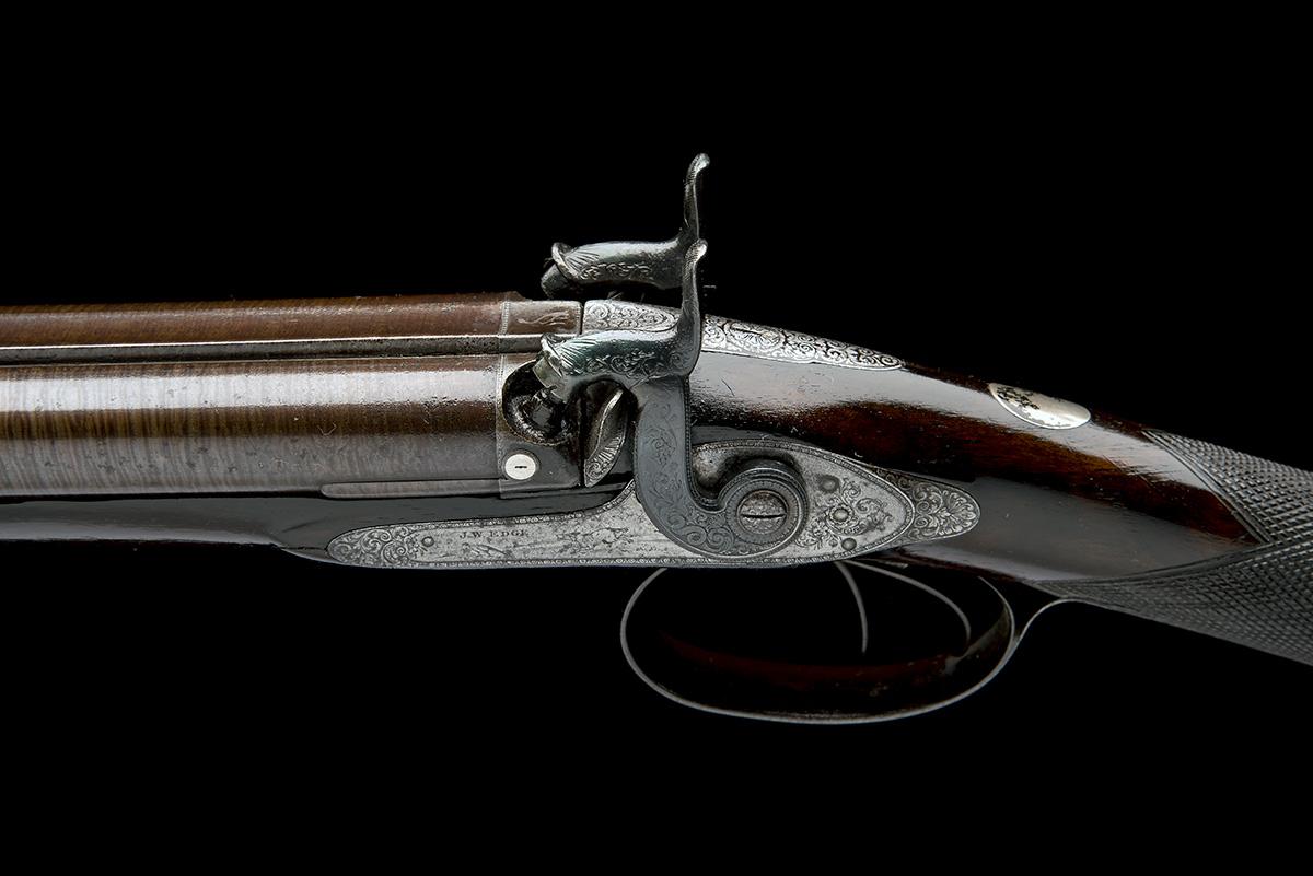 J.W. EDGE, MANCHESTER A 14-BORE PERCUSSION DOUBLE-BARRELLED SPORTING-GUN, serial no. 1350, circa - Image 7 of 8