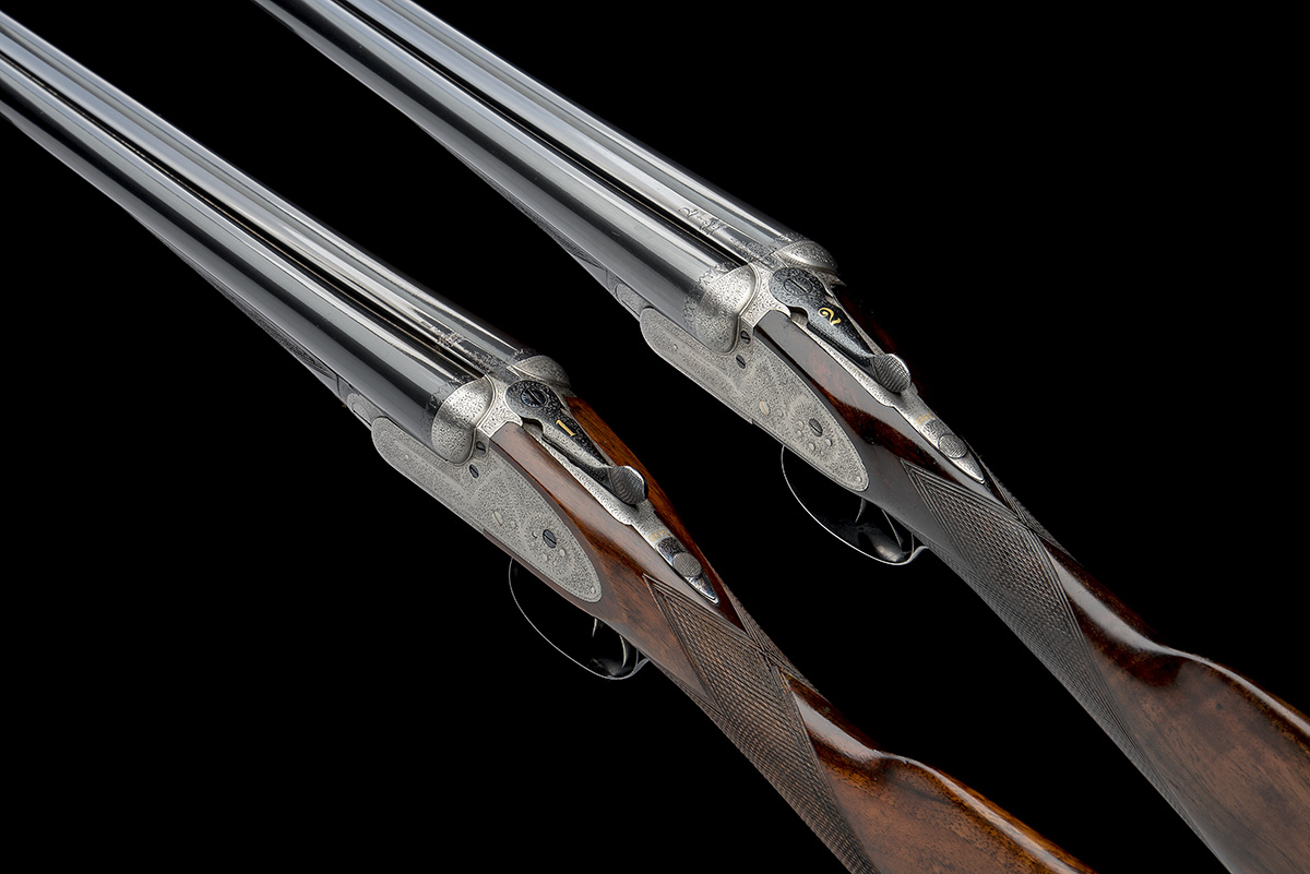 B. NORMAN A PAIR OF 12-BORE SIDELOCK EJECTORS, serial no. 2051 / 2, first quarter of the 20th - Image 4 of 8