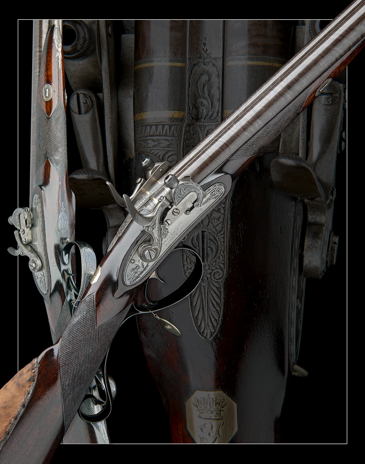 EX W. KEITH NEAL: FORSYTH & CO., LONDON AN EXCEEDINGLY RARE 19-BORE SELF-PRIMING SPORTING GUN, - Image 10 of 21