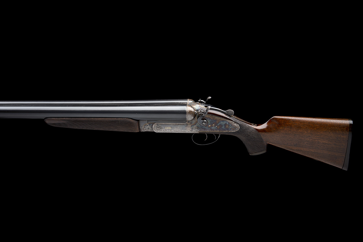 A. MYERS A MASSIVE 4-BORE (4 1/2IN.) DOUBLE-BARRELLED TOPLEVER HAMMERGUN, serial no. 806, for - Image 2 of 8