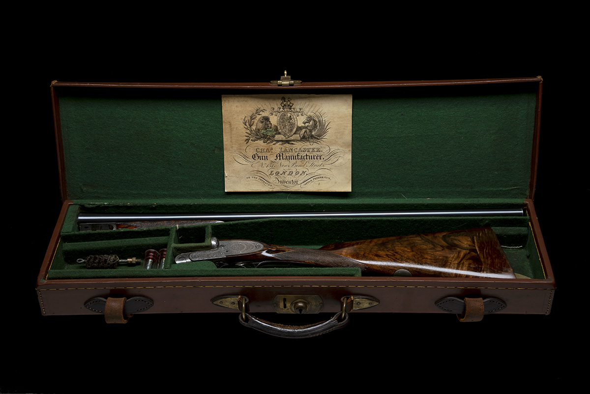 CHARLES LANCASTER A 12-BORE 'TWELVE-TWENTY' W. BAKER 1913 PATENT ASSISTED-OPENING SINGLE-TRIGGER - Image 10 of 12