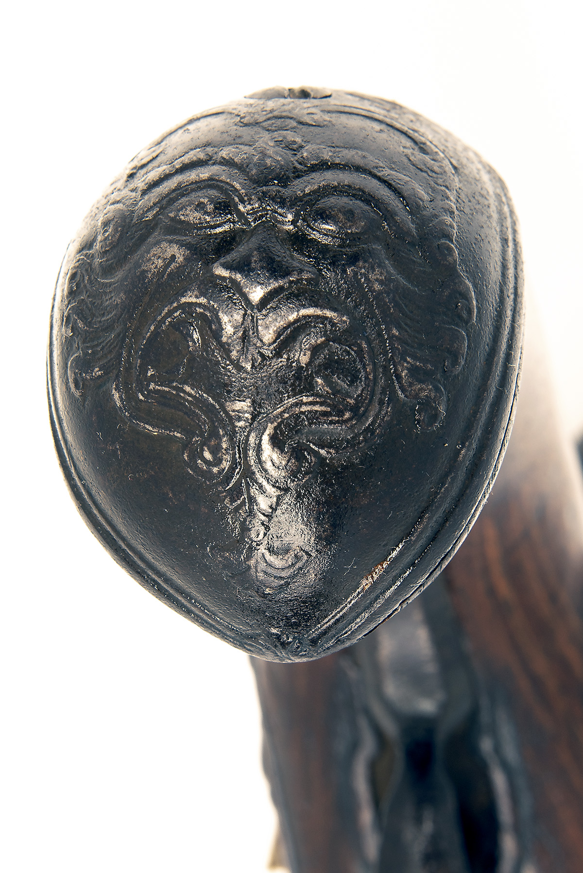 A 22-BORE FLINTLOCK HORSE-PISTOL, UNSIGNED, no visible serial number, German or Bohemian circa 1775, - Image 5 of 7
