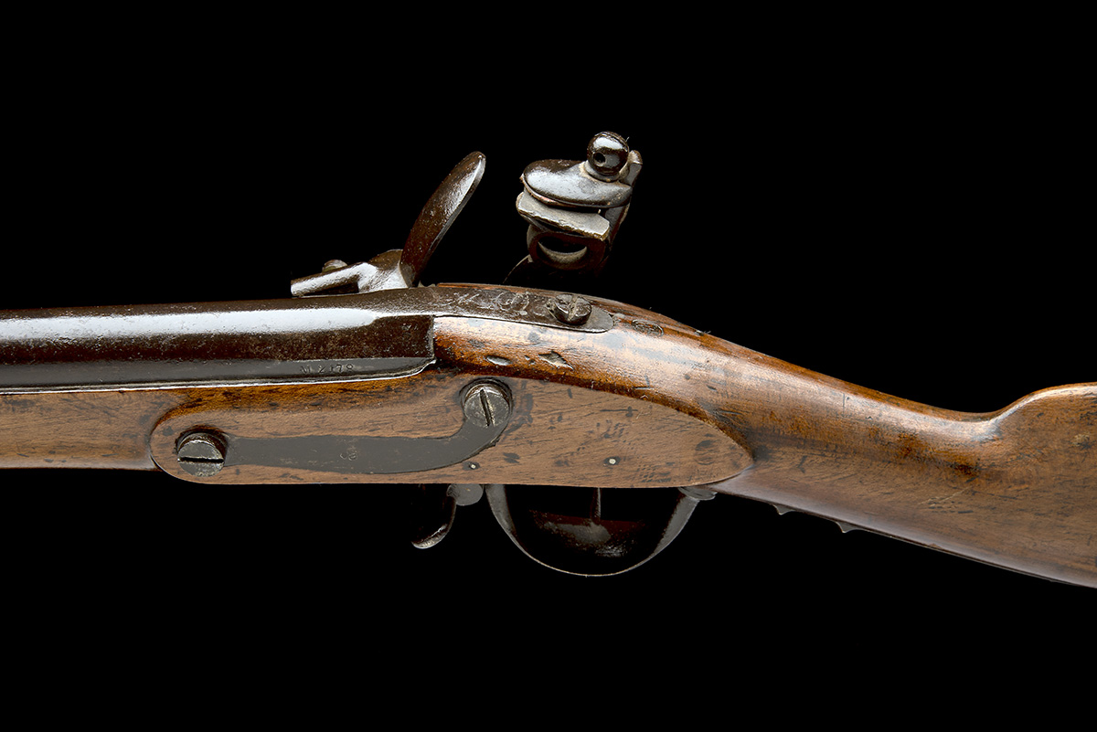 A GOOD .69 FLINTLOCK MUSKET, UNSIGNED, MODEL 'BELGIAN M1815 CHARLEVILLE', serial no. M2178, dated - Image 4 of 8