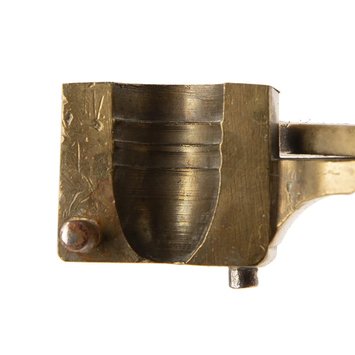 WILLIAM DAVIS, BIRMINGHAM A 14-BORE (.700) SINGLE-CAVITY BULLET-MOULD OF MINIE TYPE, of brass - Image 3 of 3