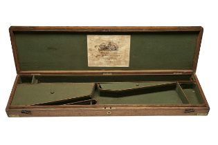 THOMAS BOSS, LONDON A GOOD BRASS CORNERED OAK STORAGE-CASE FOR A PERCUSSION SHOTGUN, circa 1850,