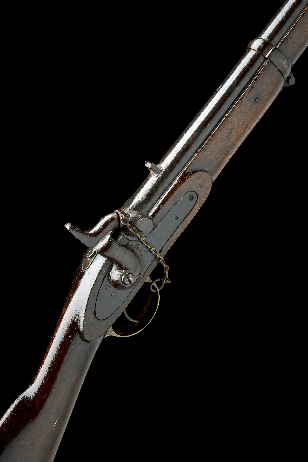 A .650 PERCUSSION SINGLE-BARRELLED CAVALRY-CARBINE, UNSIGNED, MODEL 'INDIA PATTERN', no visible - Image 2 of 7