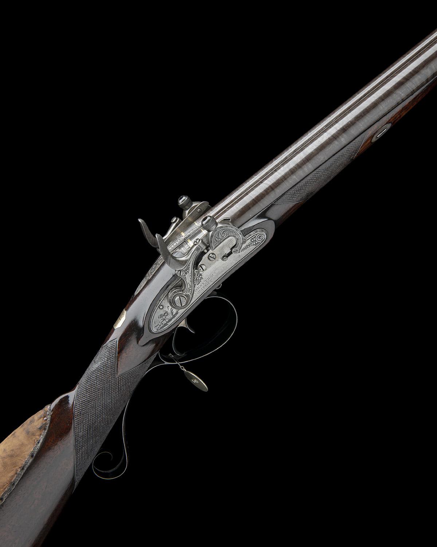 EX W. KEITH NEAL: FORSYTH & CO., LONDON AN EXCEEDINGLY RARE 19-BORE SELF-PRIMING SPORTING GUN,